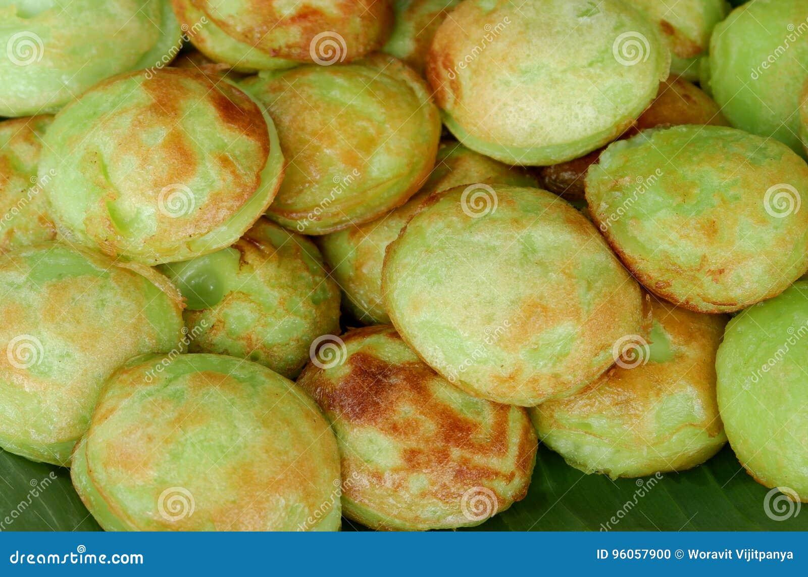 Genre vert de Pandan de sucreries thaïlandaises
