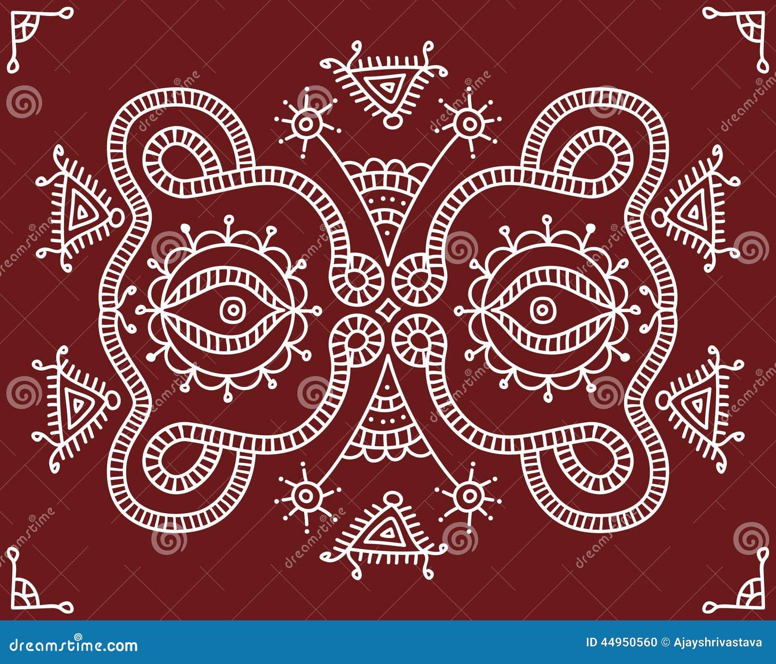 gens conception tribale motif peinture de mur illustration de vecteur illustration du inde. Black Bedroom Furniture Sets. Home Design Ideas