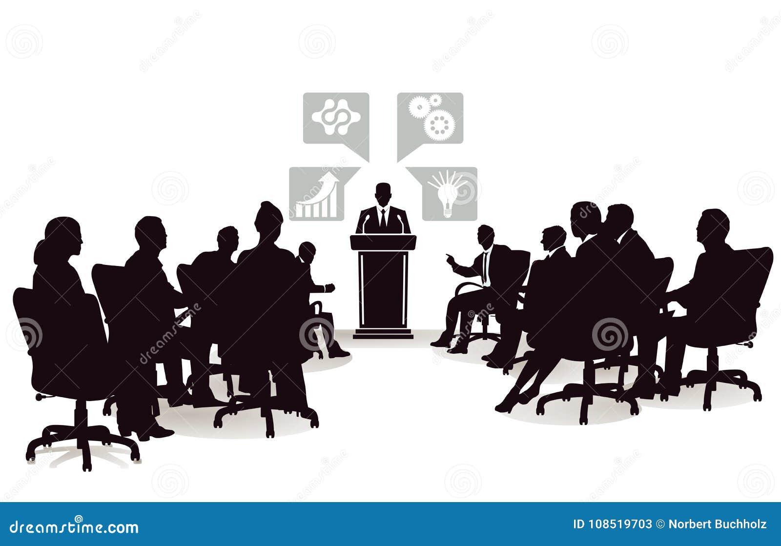 Gens d affaires à la conférence