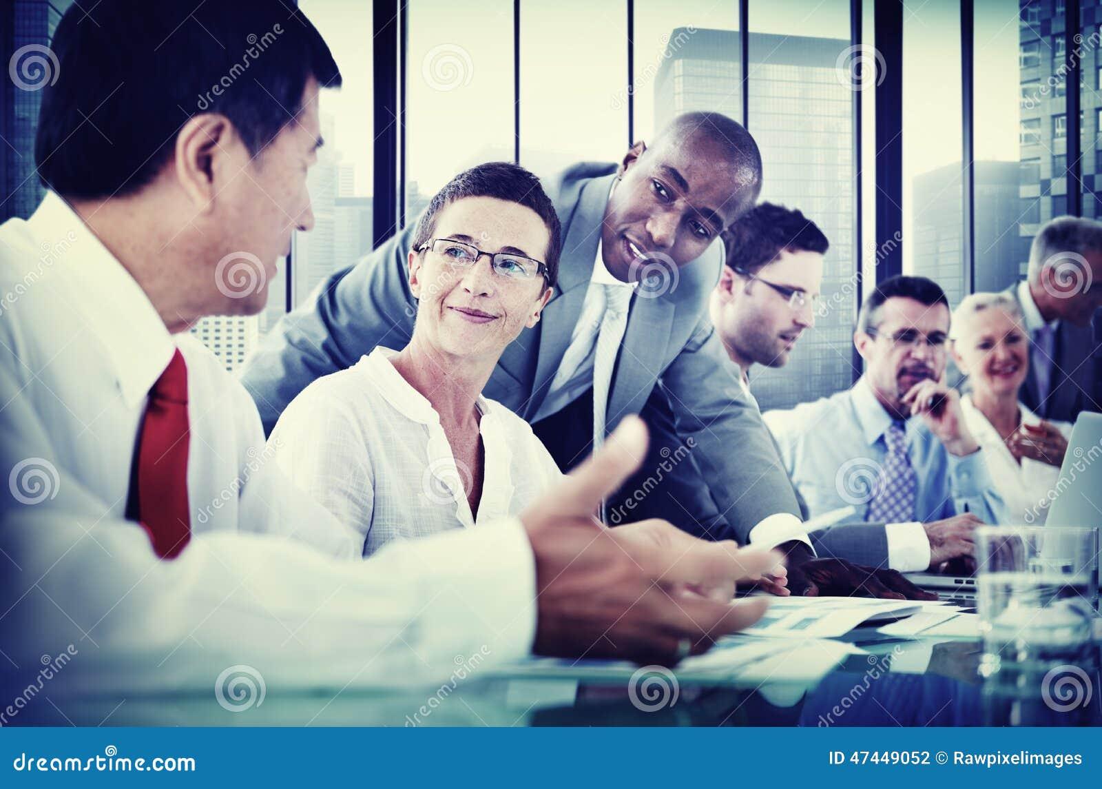 Gens d affaires de communication corporate de concept de réunion