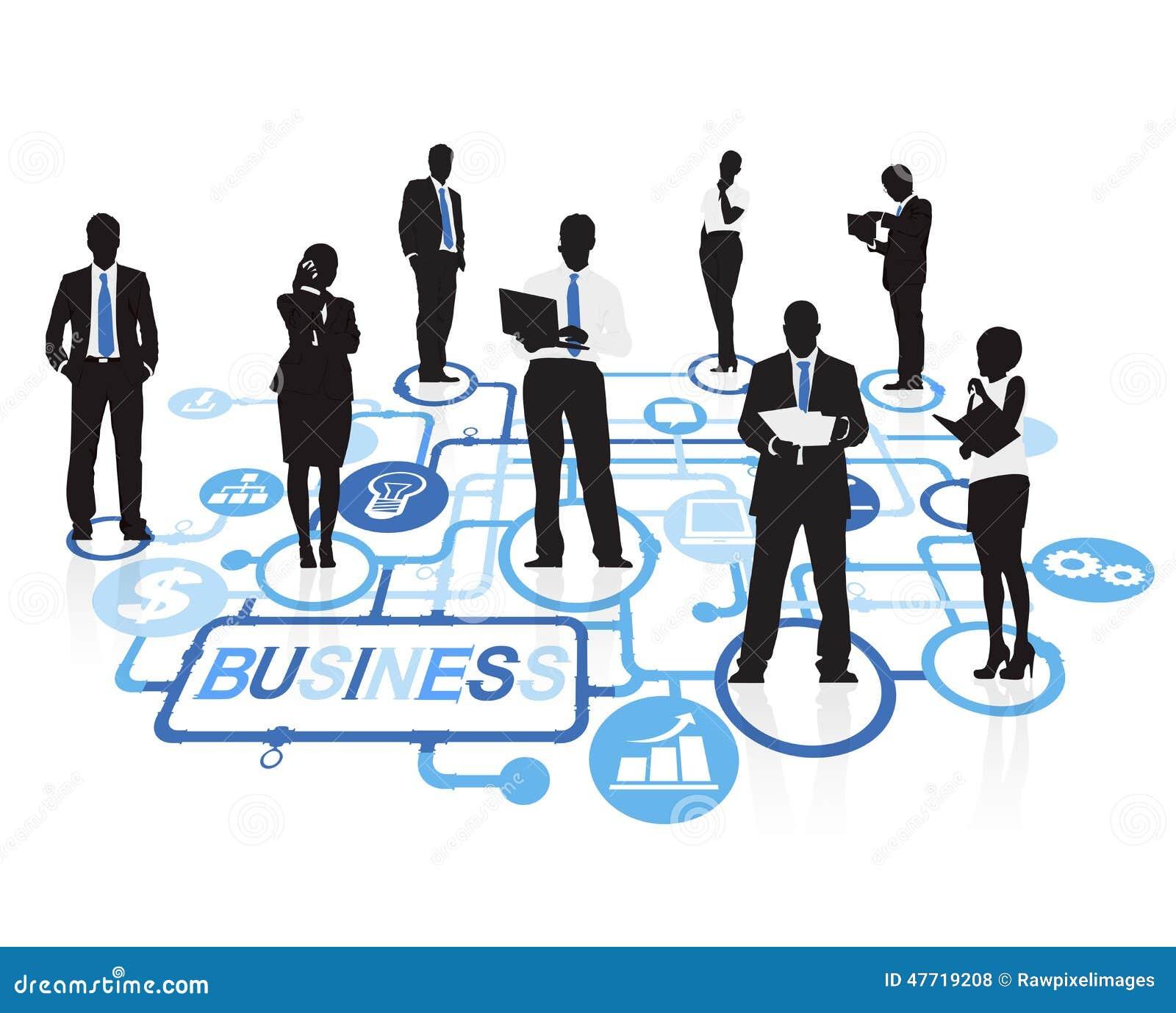 Gens d affaires de concept d entreprise de connexion