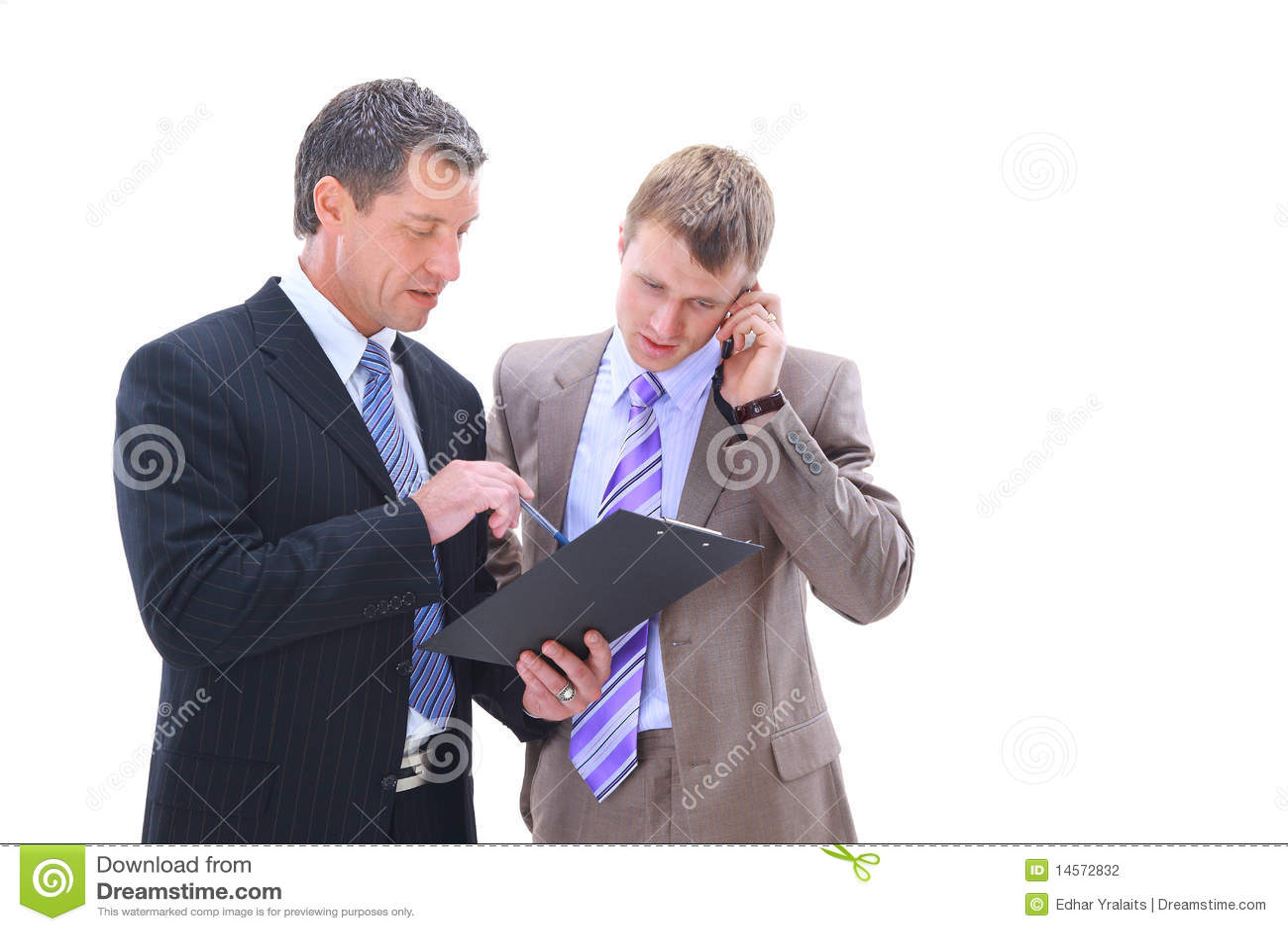 Gens d affaires de discuter