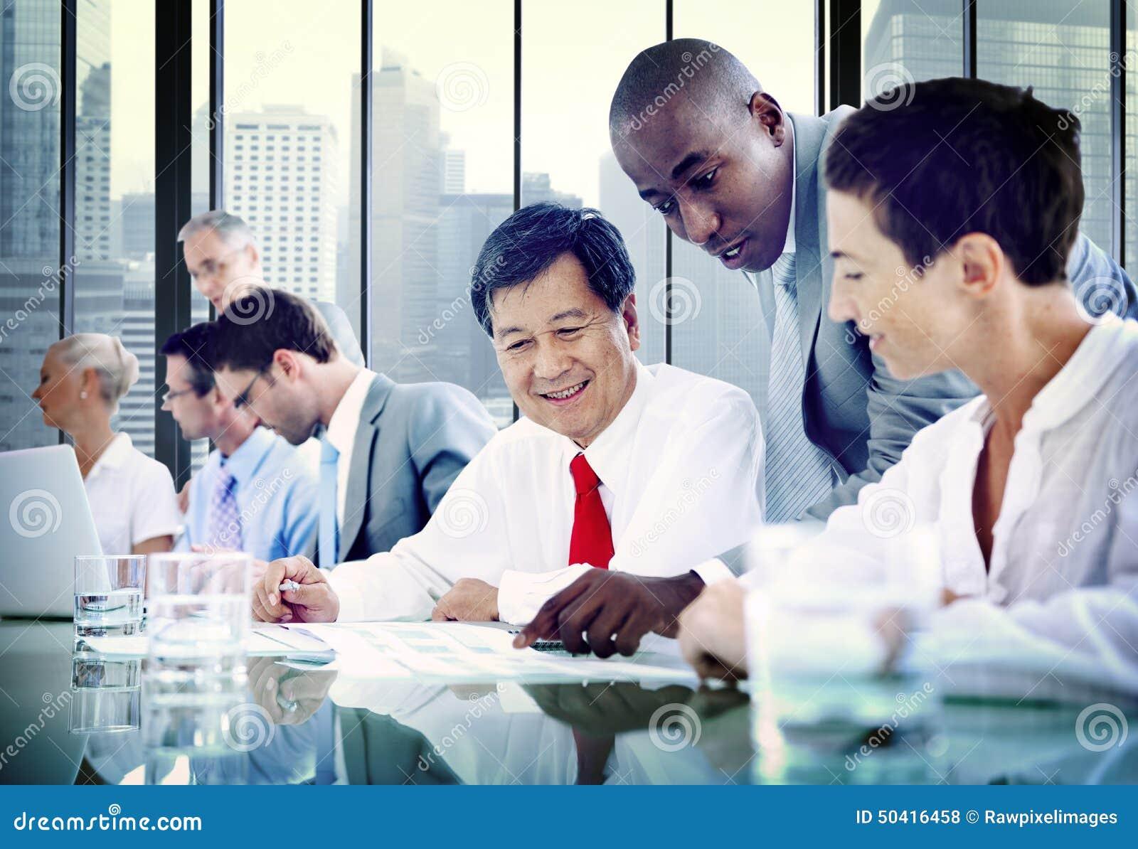 Gens d affaires de diversité Team Corporate Communication Concept