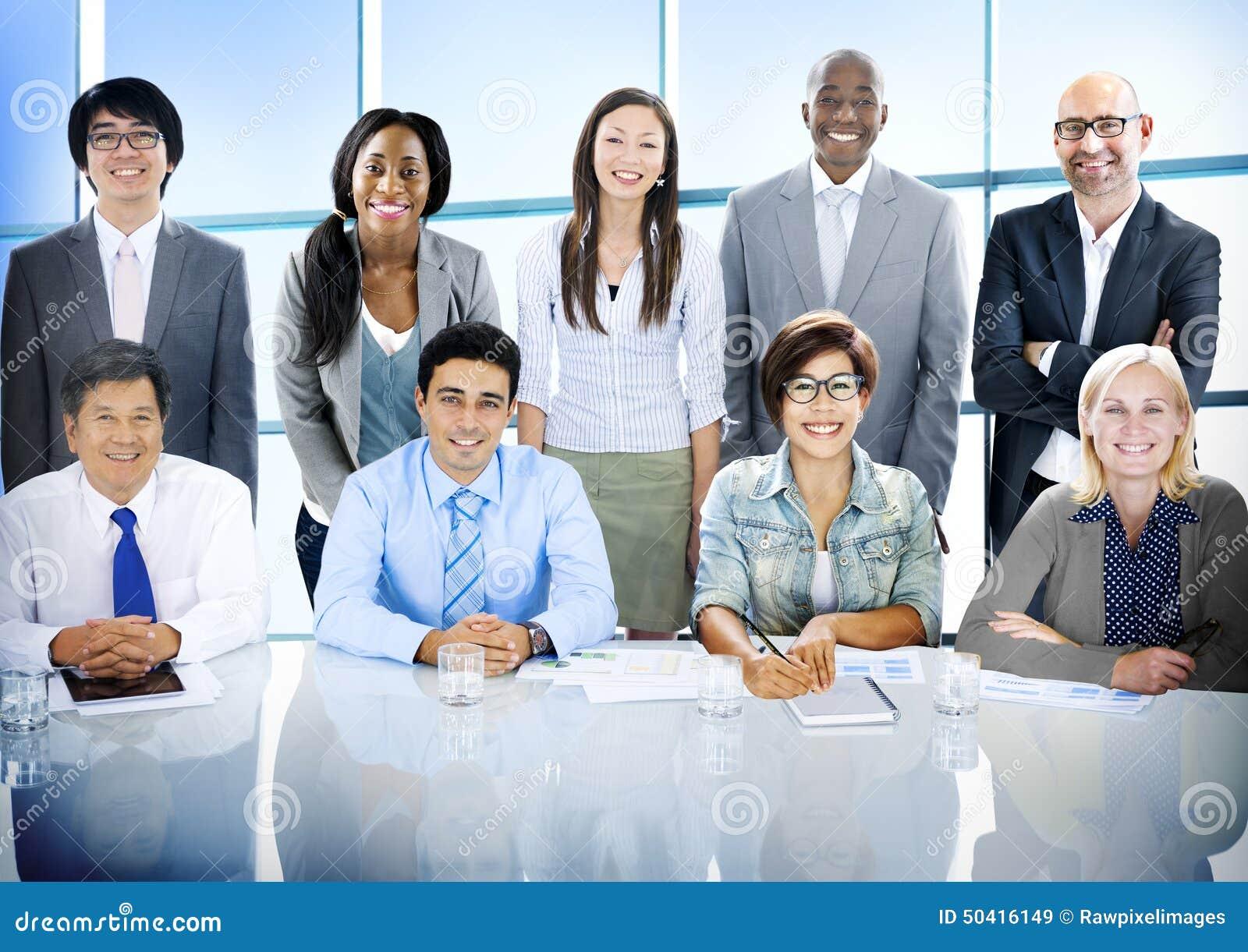 Gens d affaires de diversité Team Corporate Professional Concept