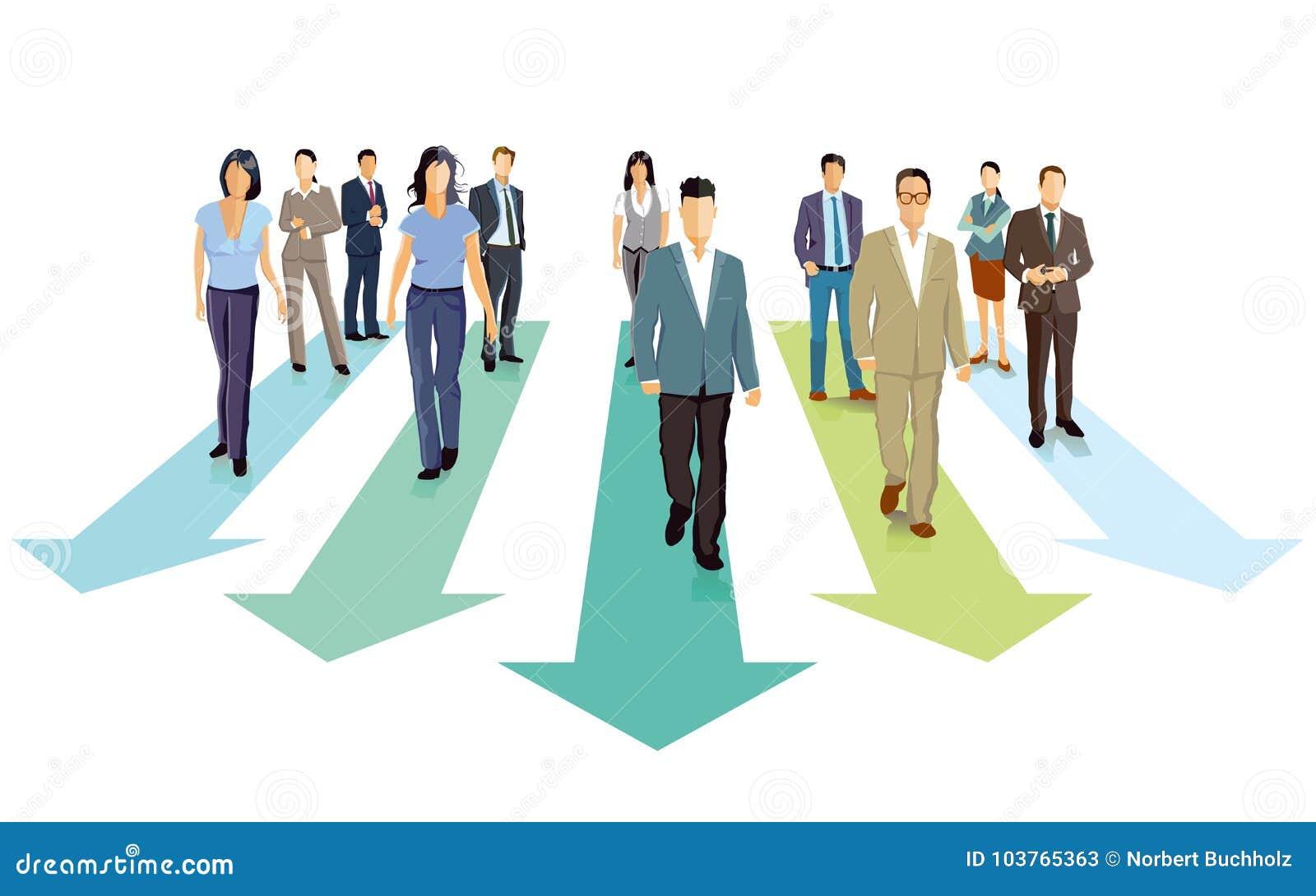 Gens d affaires marchant en avant