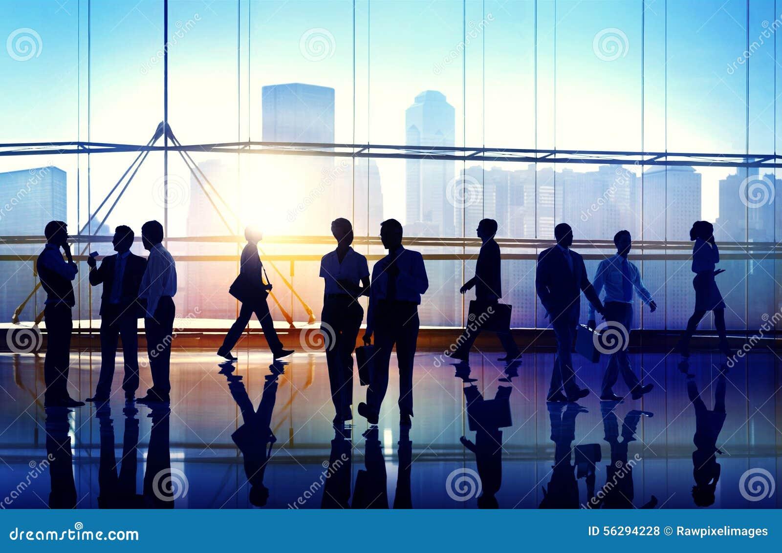 Gens d affaires rencontrant le concept d entreprise de séminaire