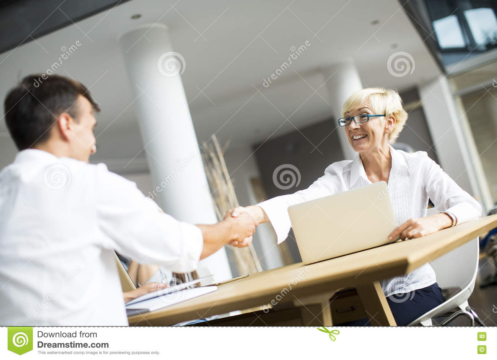 Gens d affaires se serrant la main