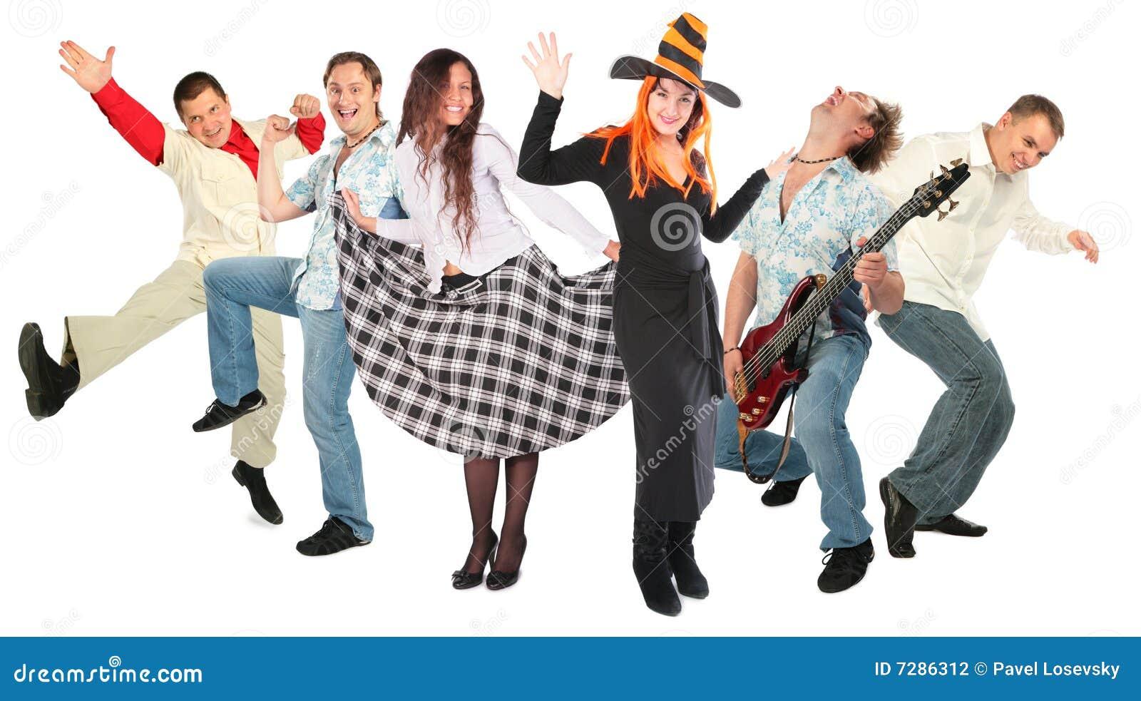 Gens d isolement par groupe de danse