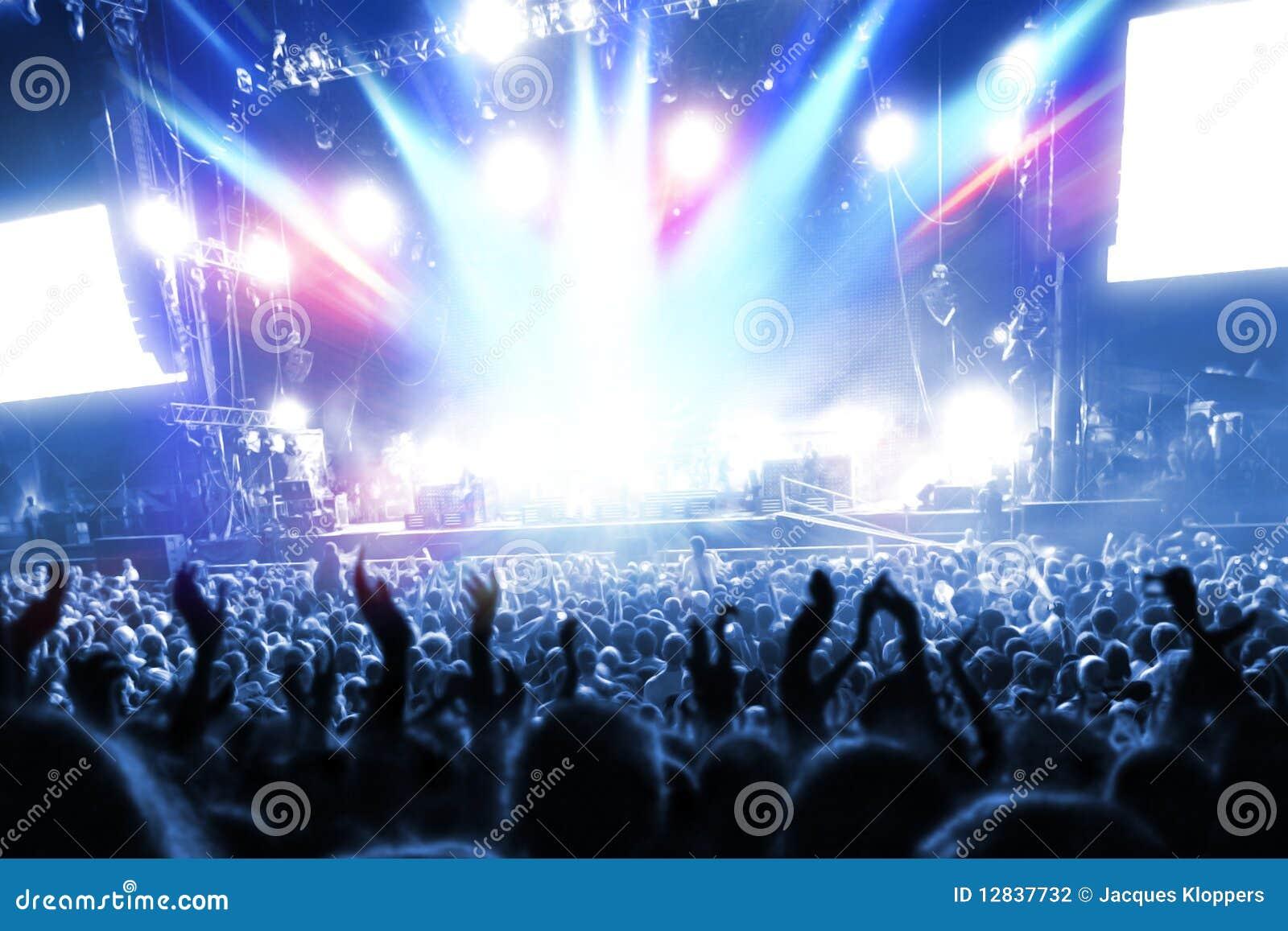 Gens de réception à un concert frénétique de bruit