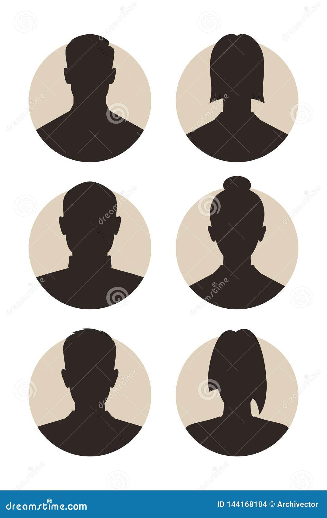 Gente abstracta de los avatares
