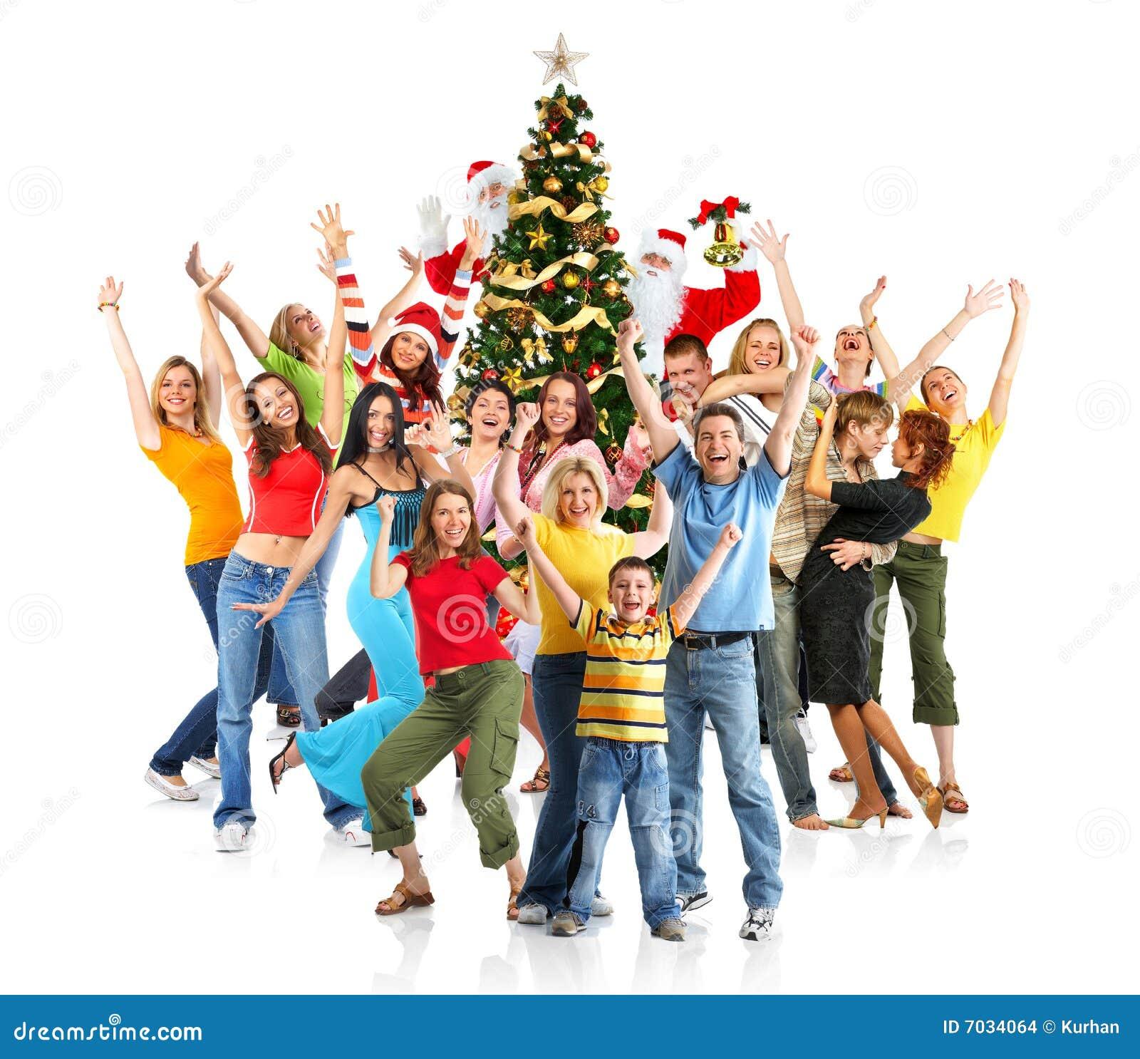 Gente de la feliz Navidad