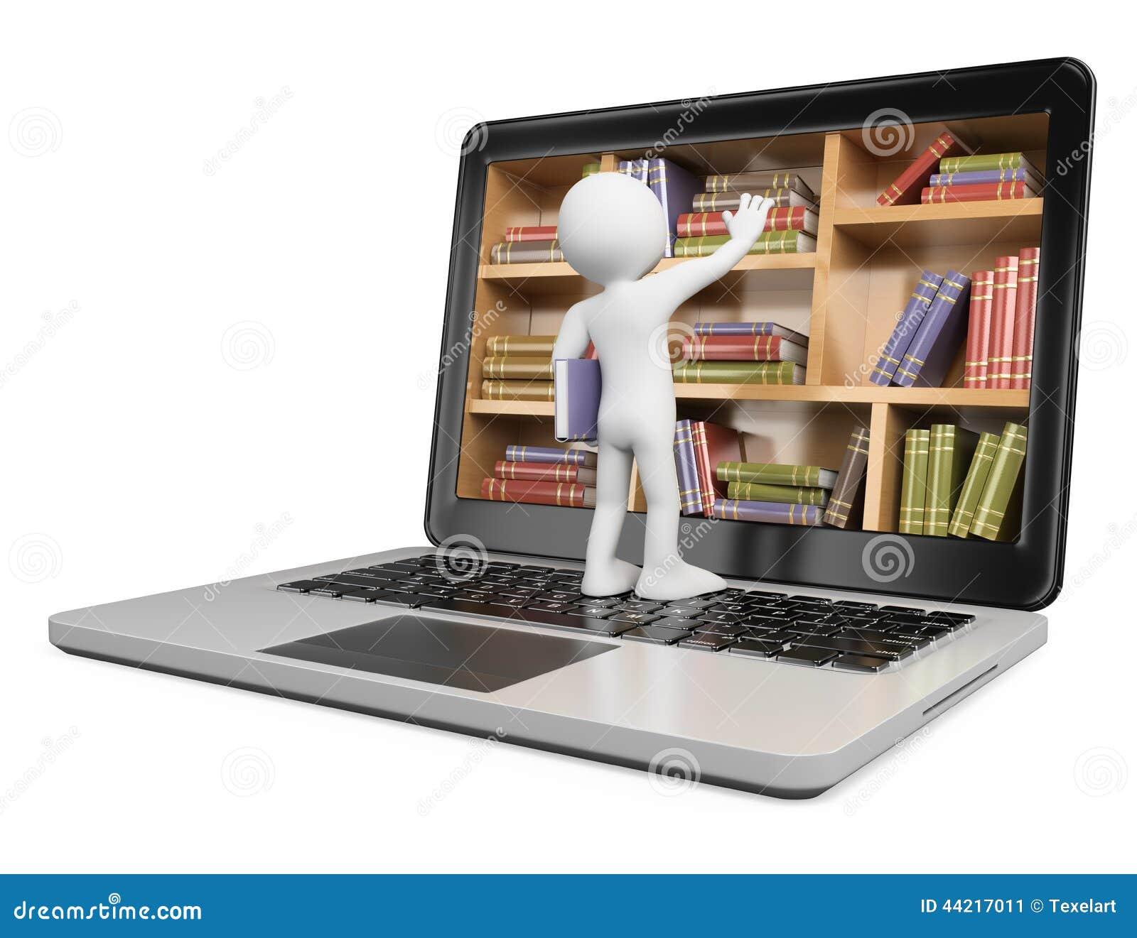Gente del blanco 3d Nuevas tecnologías Biblioteca de Digitaces