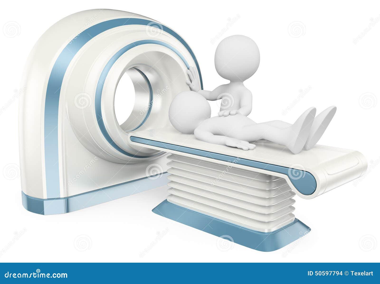 Gente del blanco 3d Tomografía computada CT