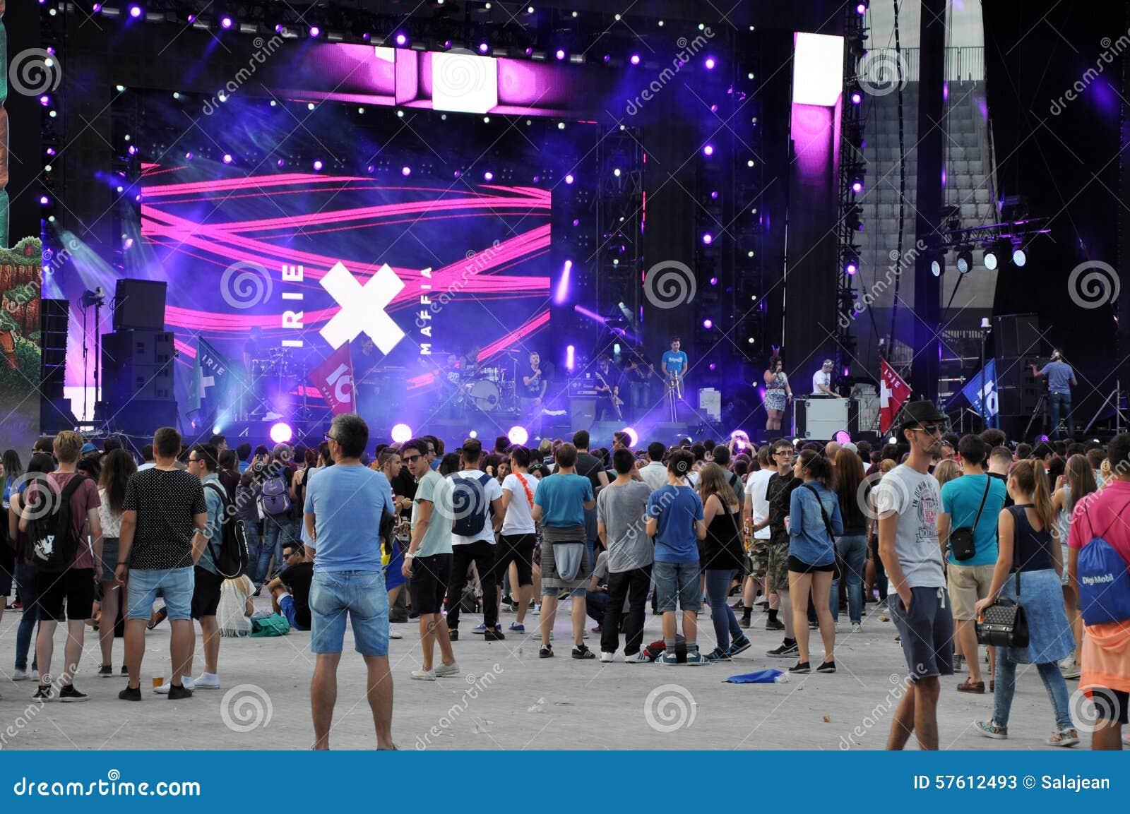 Gente del partido en un concierto vivo