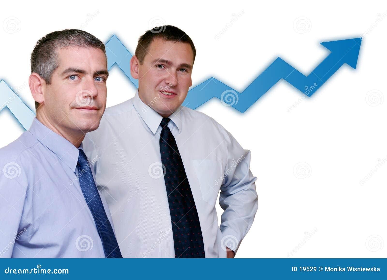 Gente di affari - crescita di profitti
