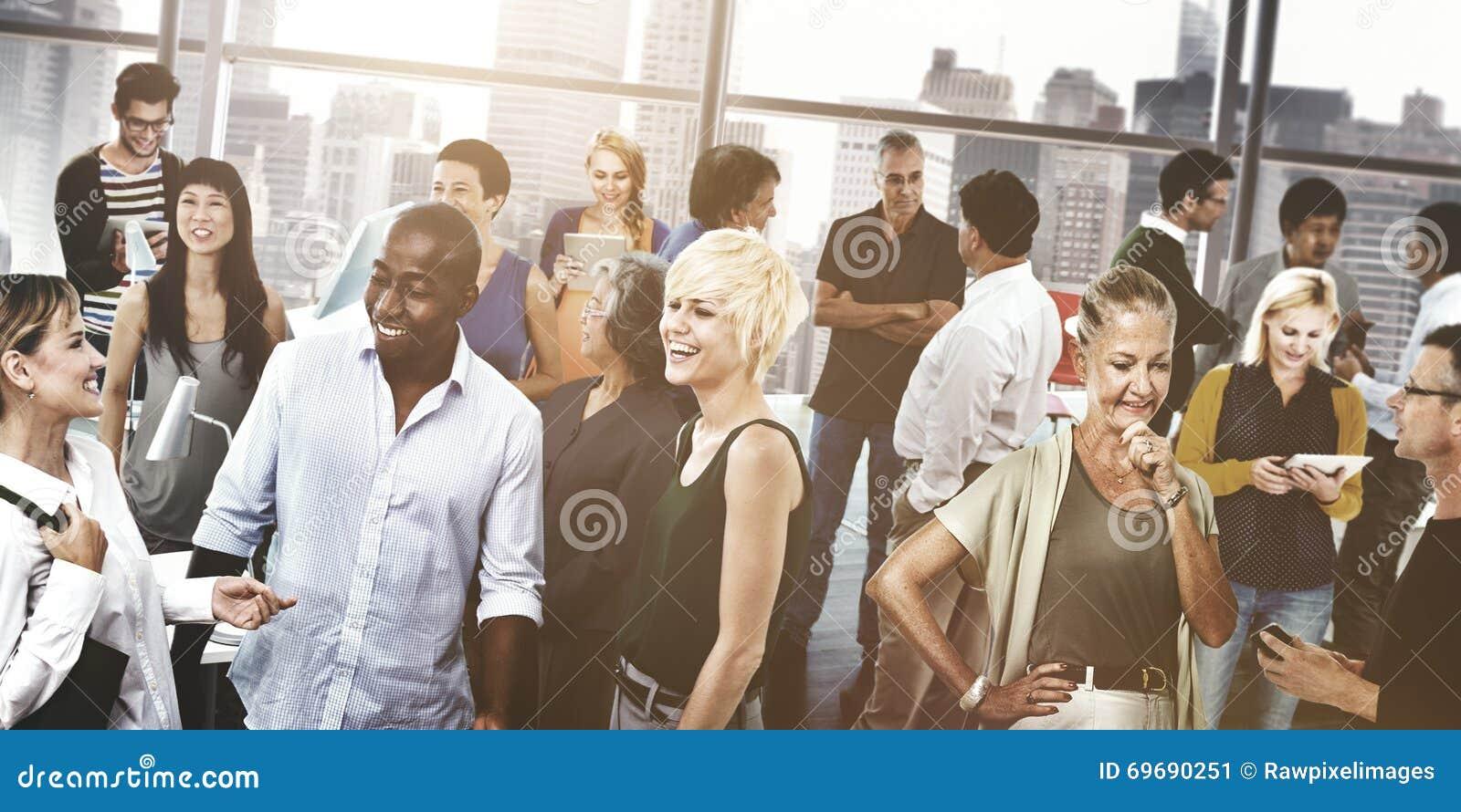 Gente di affari di comunicazione della Comunità di concetto del collegamento
