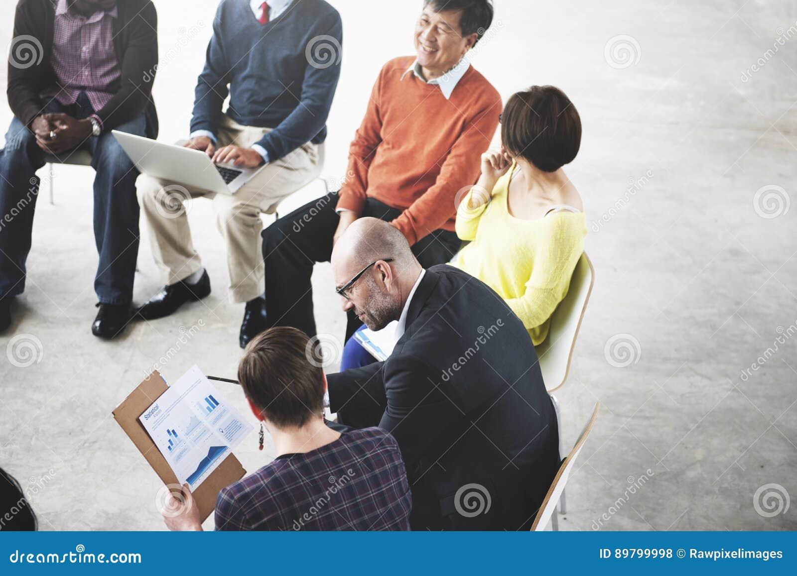 Gente di affari di Team Teamwork Working Meeting Concept