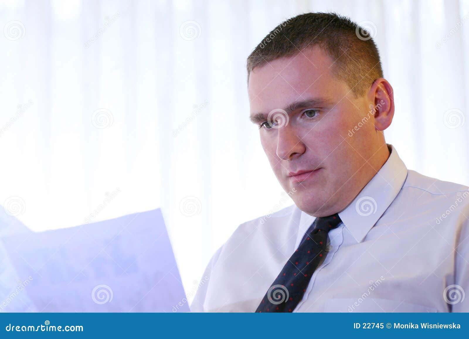 Gente di affari - documenti della lettura