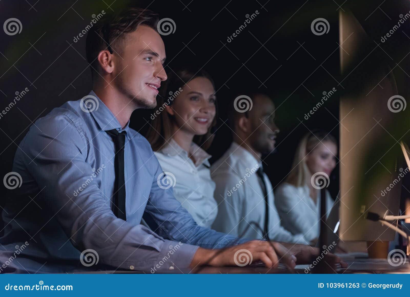 Gente di affari di funzionamento