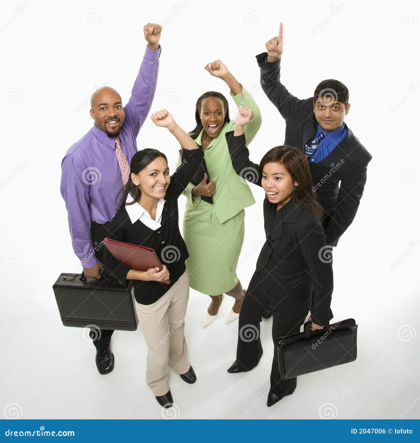 Gente di affari incoraggiare