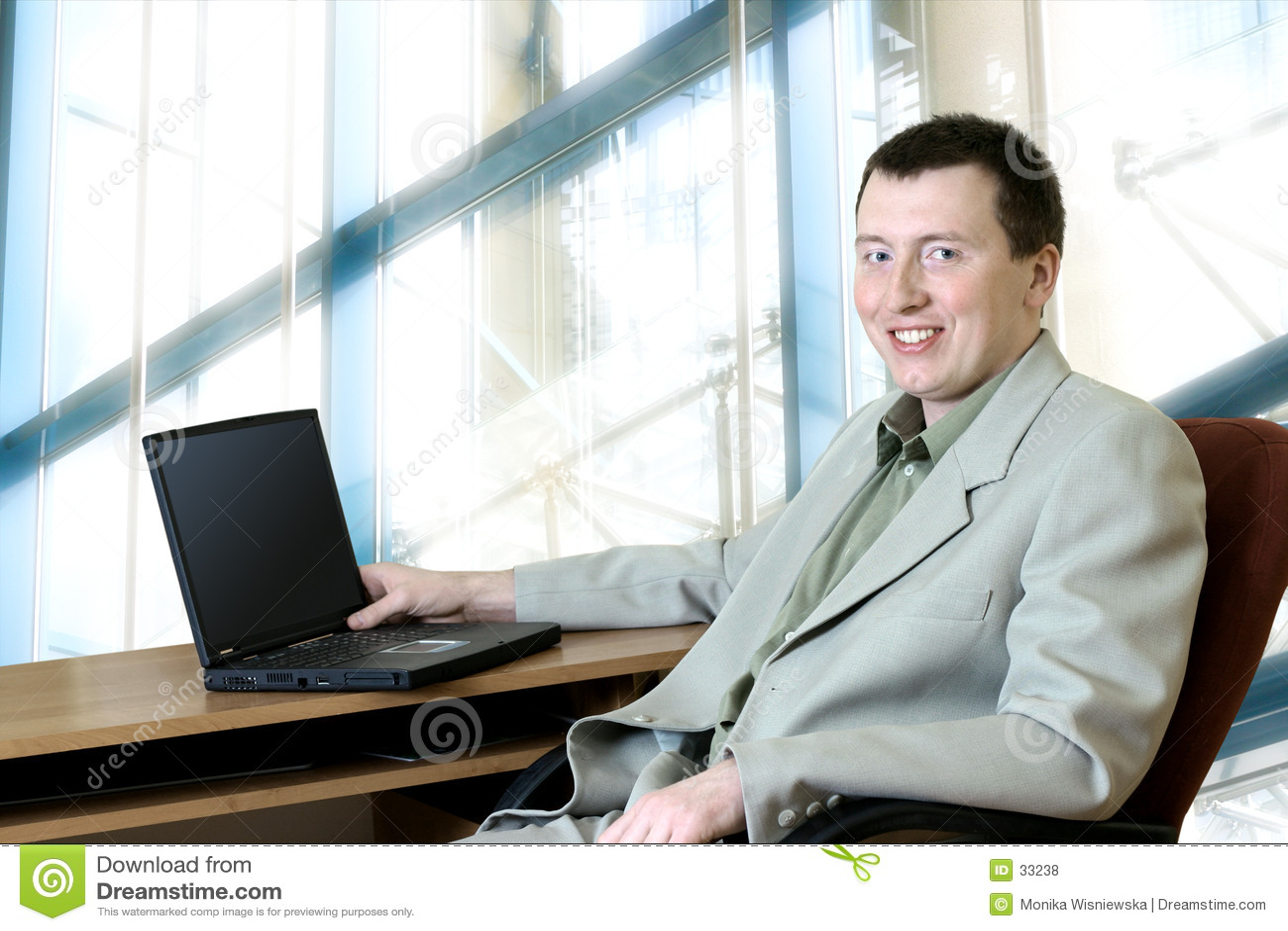 Gente di affari - uomo nel suo ufficio