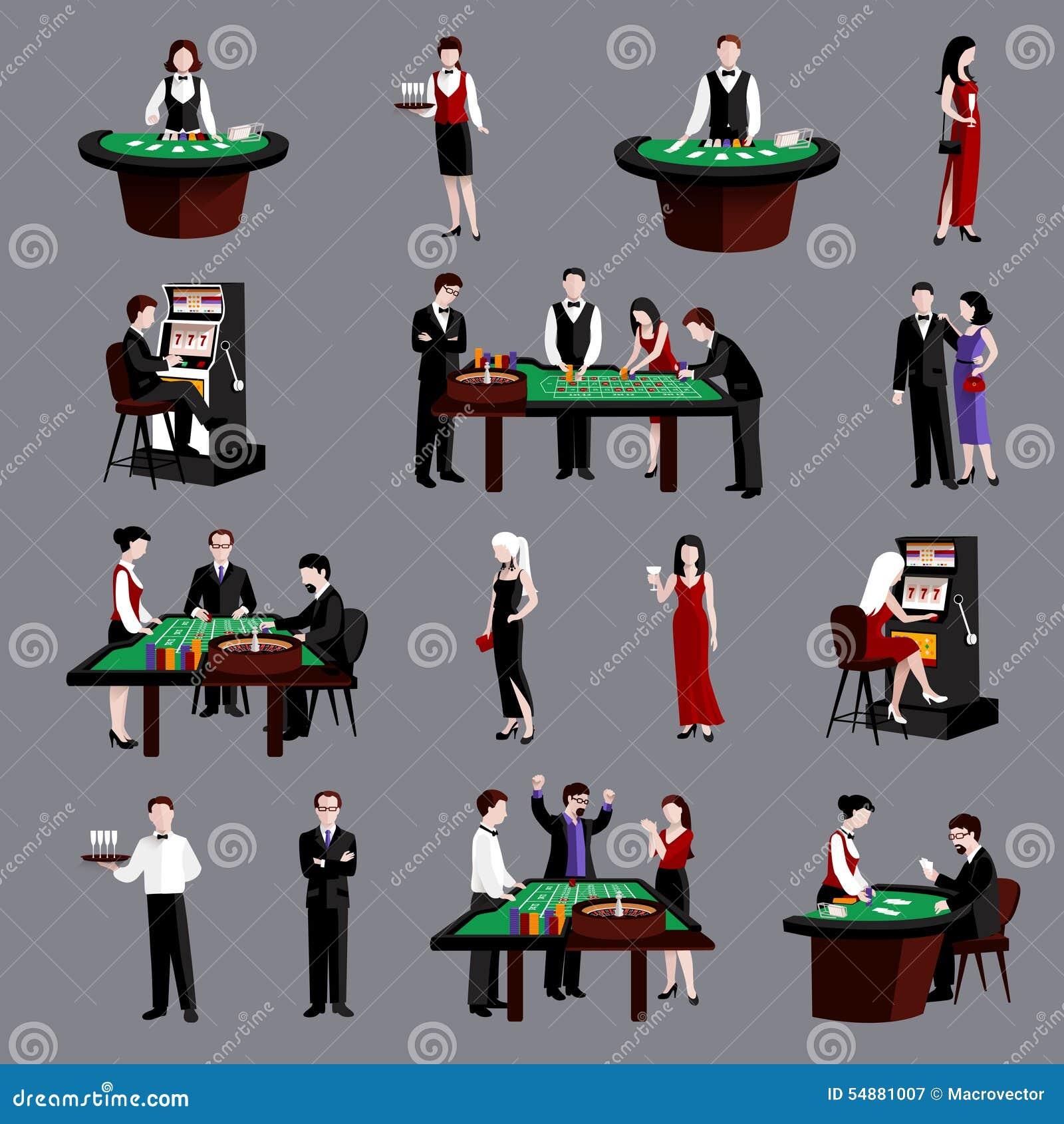 Gente en casino