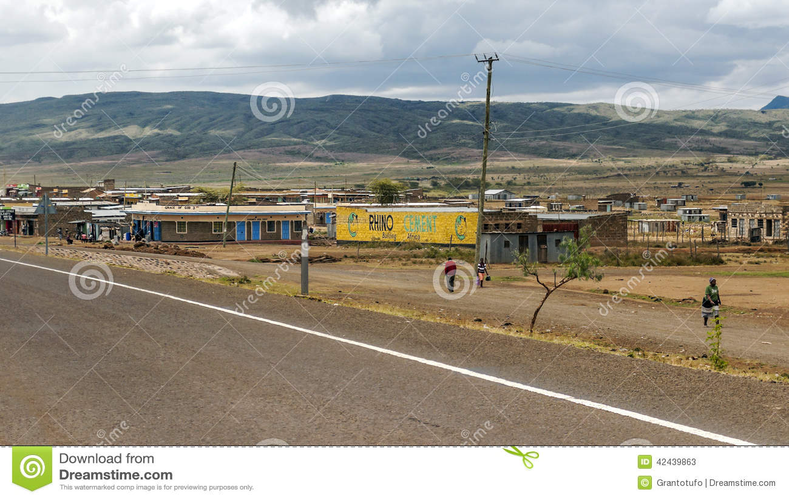 Gente en el pueblo de Kenia