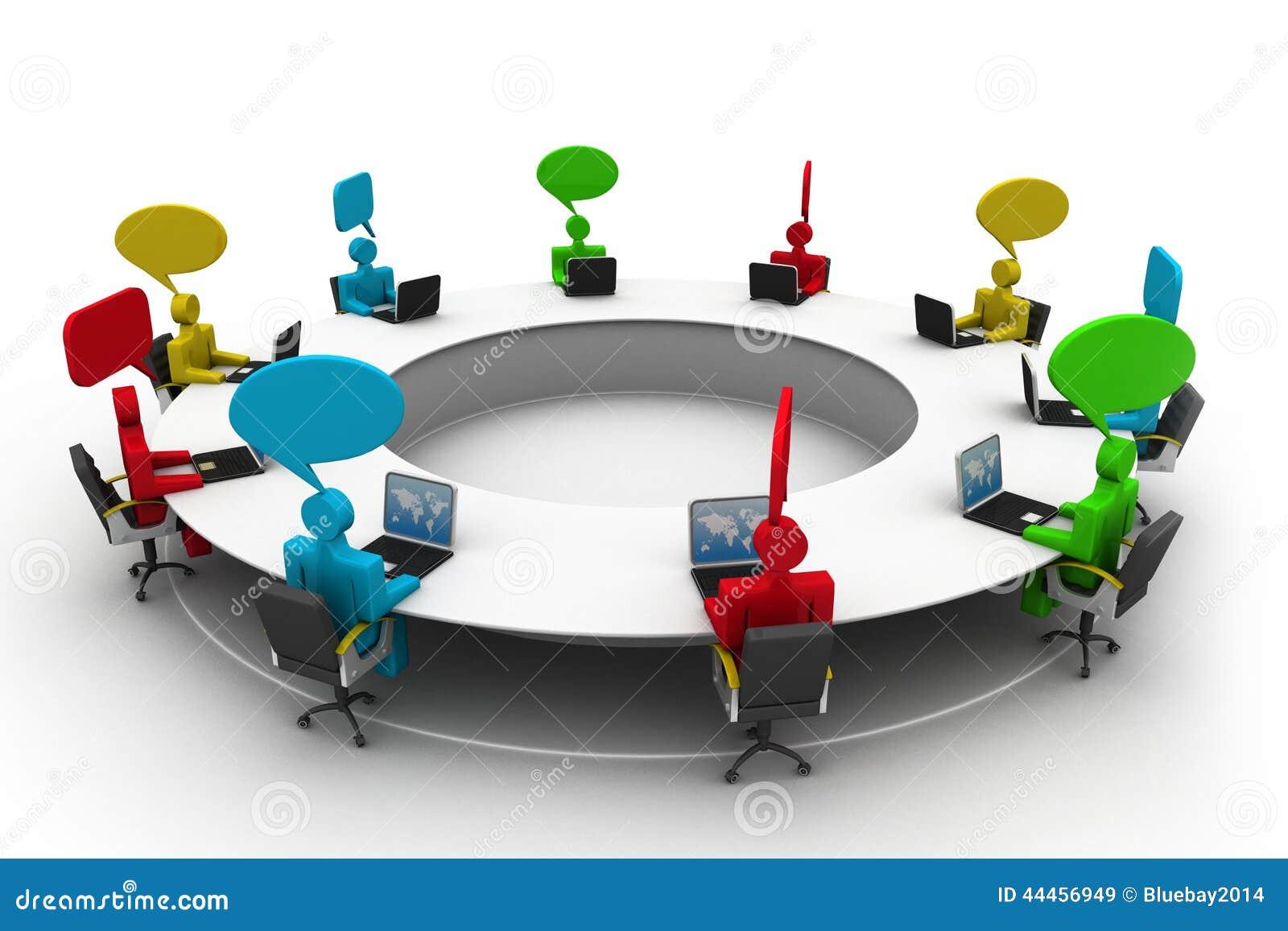 Gente en la mesa de reuniones stock de ilustraci n for Mesa de reuniones
