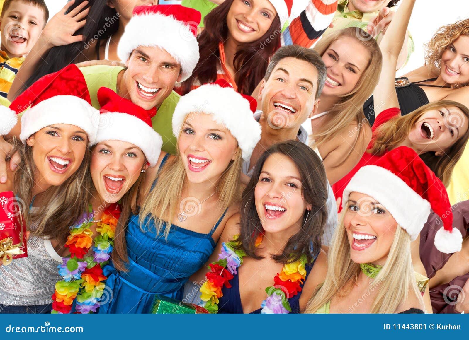 Gente Feliz En Navidad.Gente Feliz Imagen De Archivo Imagen De Navidad Belleza