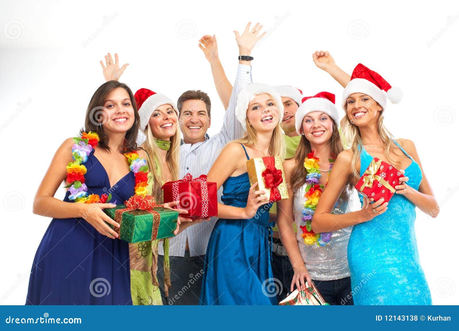 Gente Feliz En Navidad.Gente Feliz Foto De Archivo Imagen De Feliz Aislante