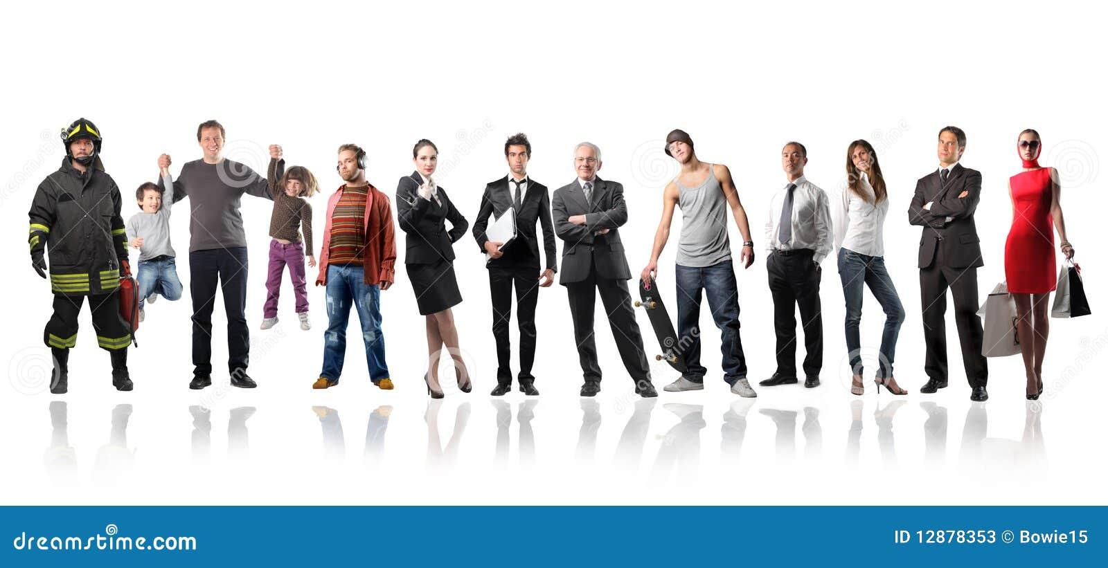 Gente mezclada fotos de archivo imagen 12878353 - Imagenes de gente mala onda ...