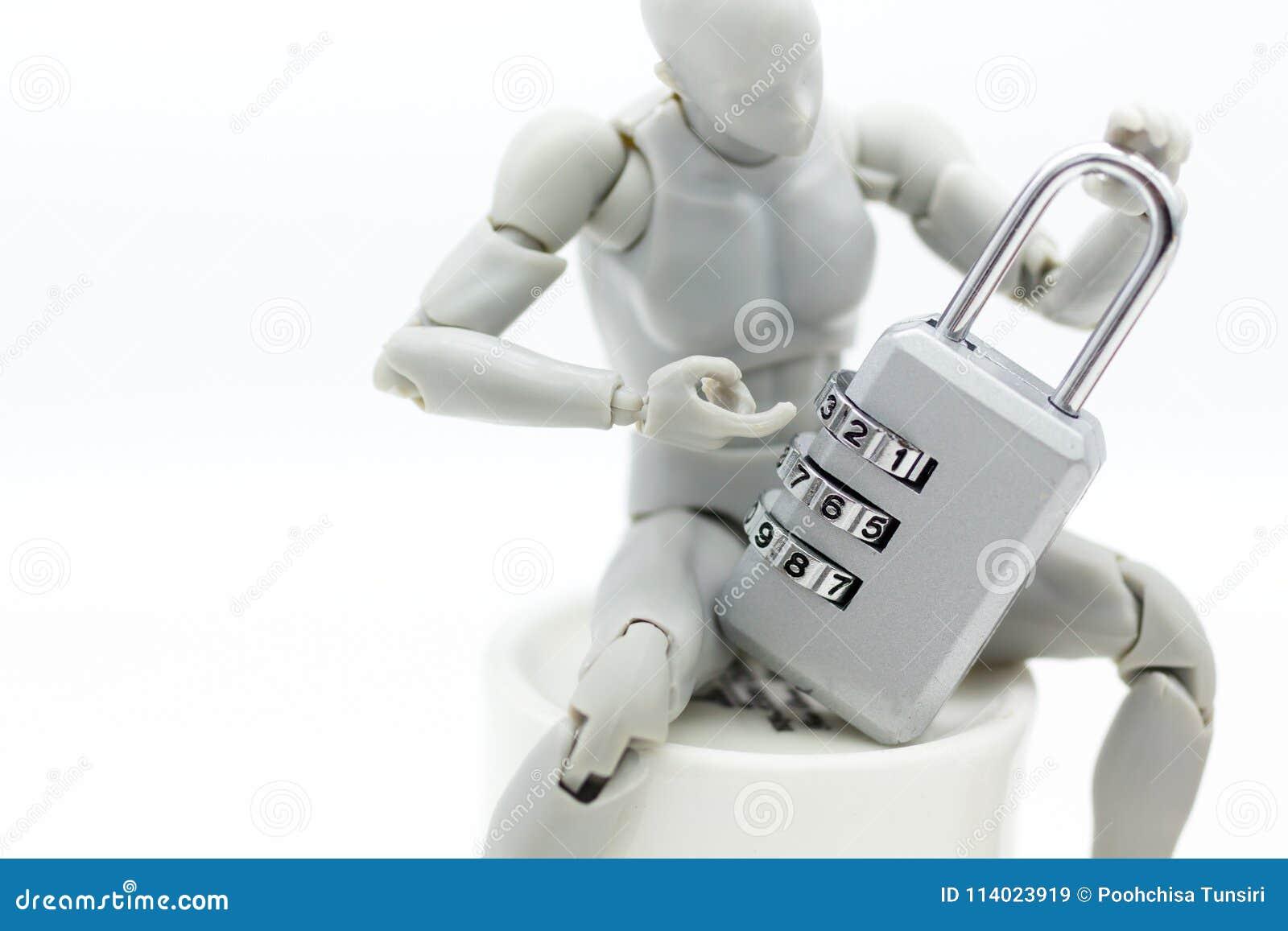Gente Miniatura: Modello Del Robot Con La Codifica Della ...