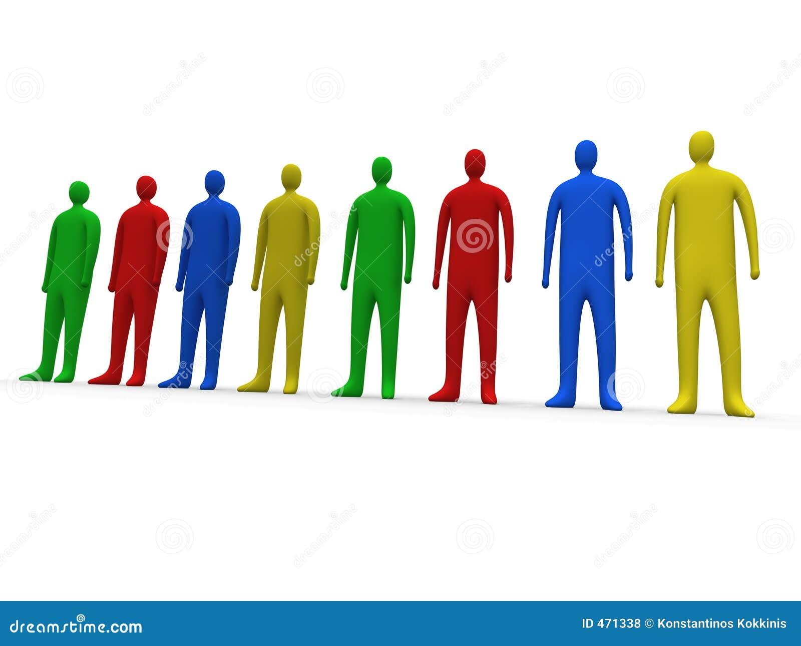 Gente multicolora #1