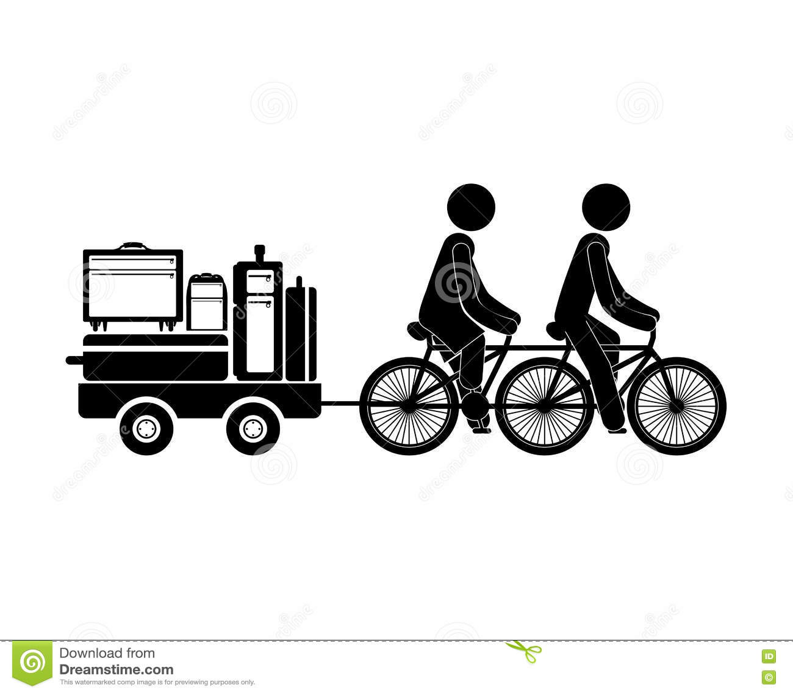 Gente negra de la silueta que transporta equipaje