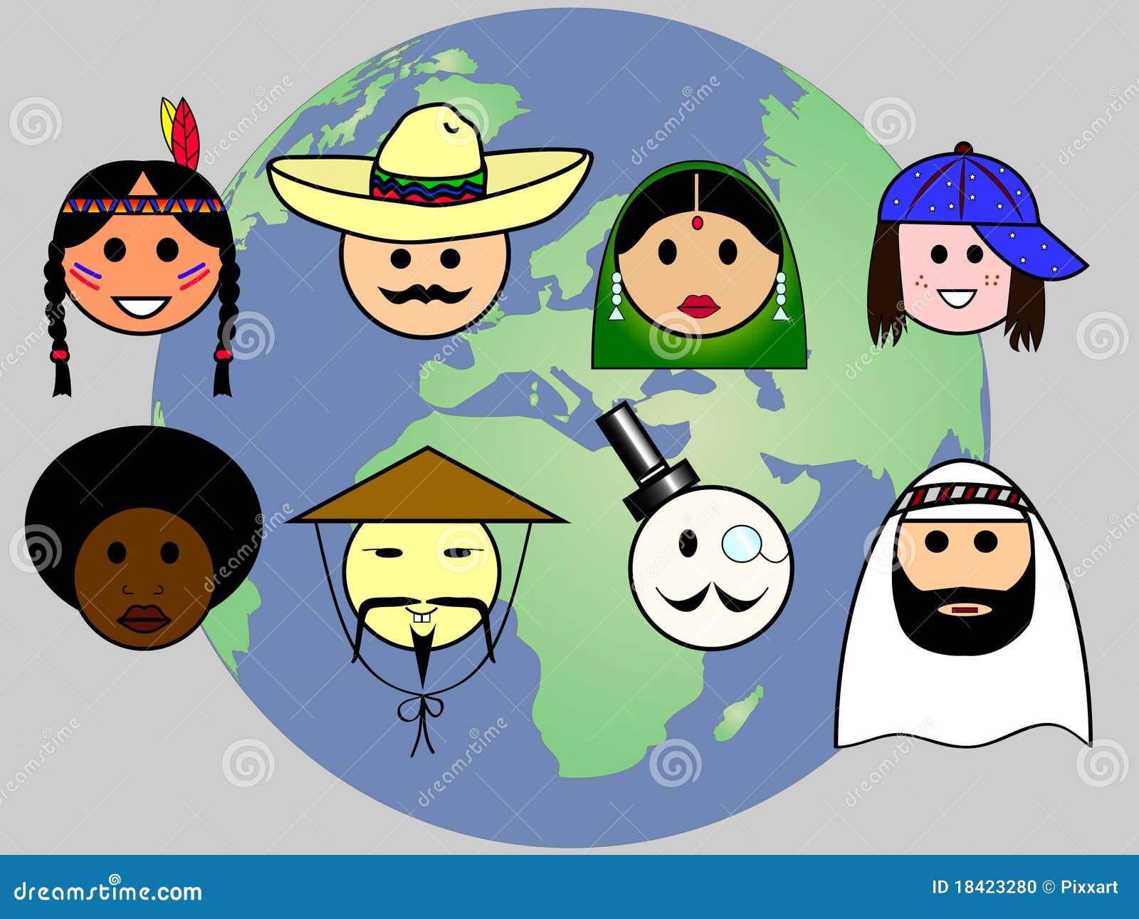 Gente por todo el mundo stock de ilustraci n ilustraci n for El mundo del mueble sillones