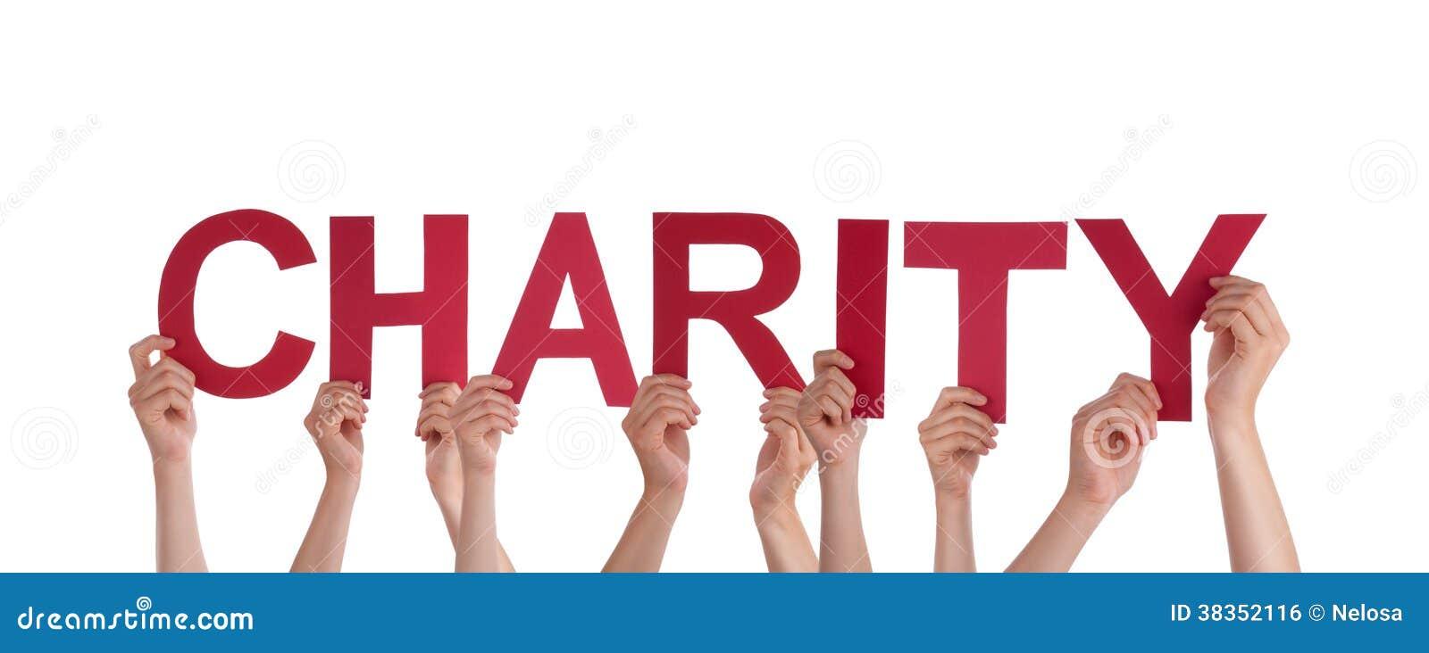 Gente que lleva a cabo caridad