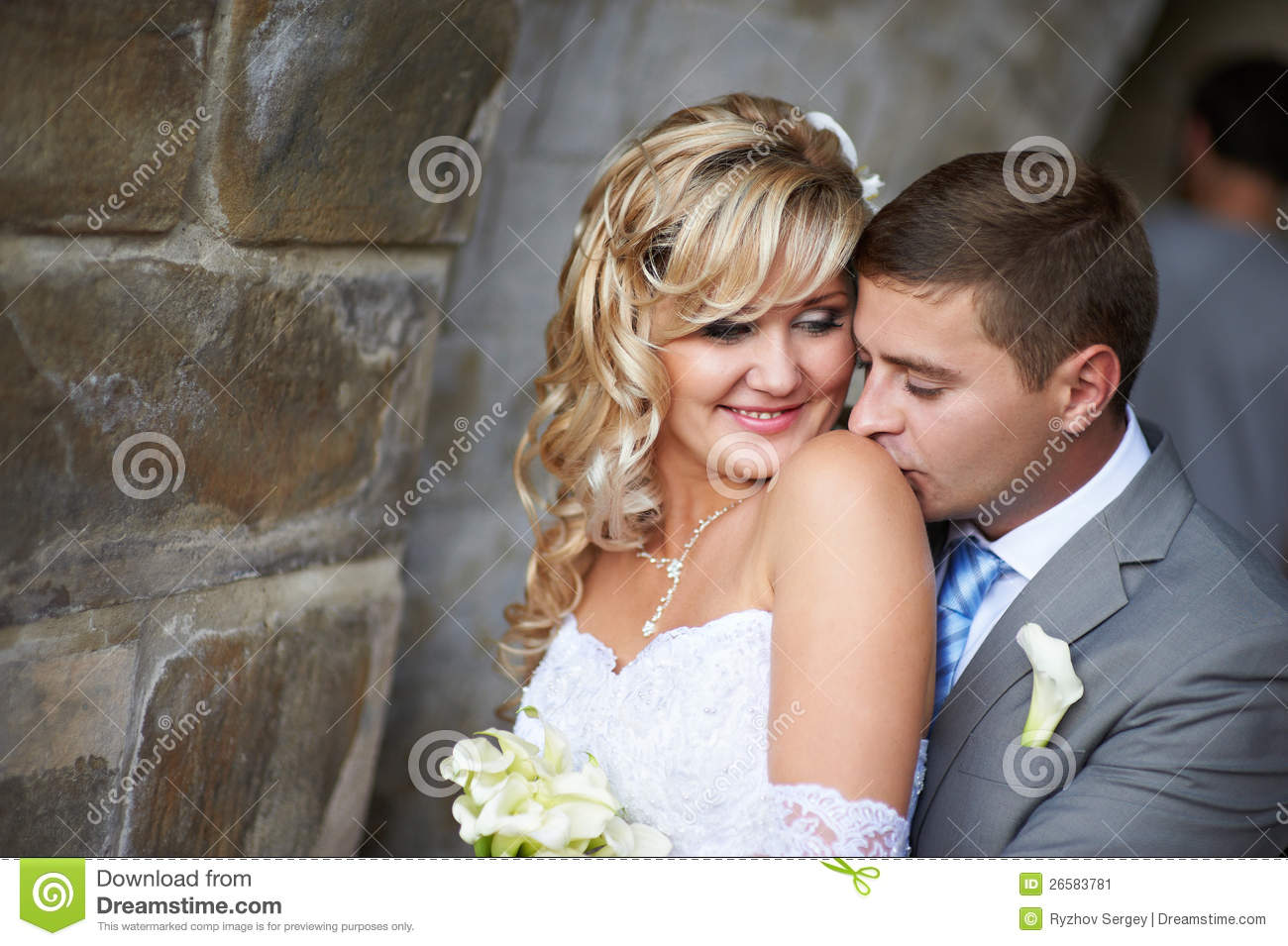 gentle kiss on the shoulder stock image image 26583781