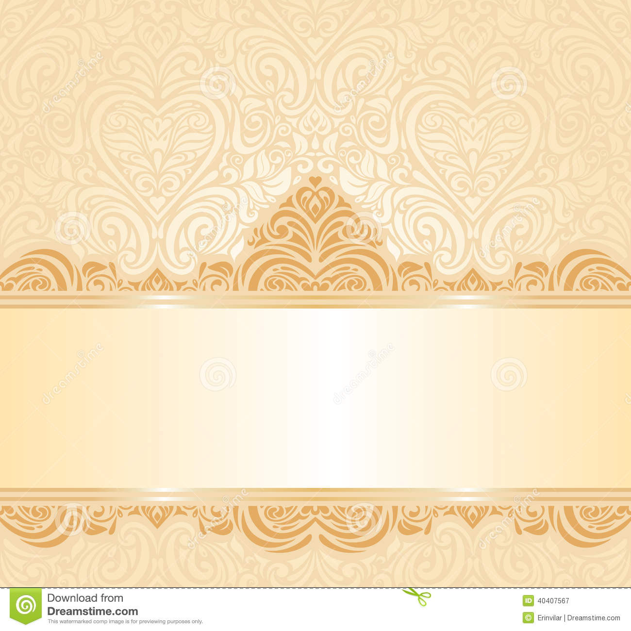 Gentle Peach Wedding Invitation Floral Background Stock Vector - Image ...