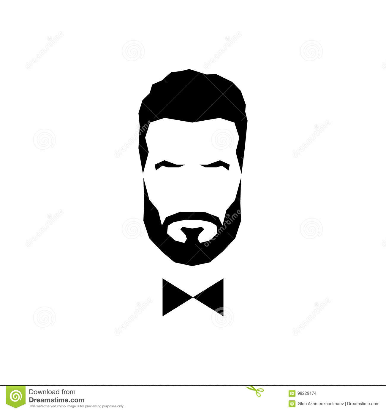 269bc7e56709 Royalty-Free Vector. Gentleman avatar with bow tie. Download preview