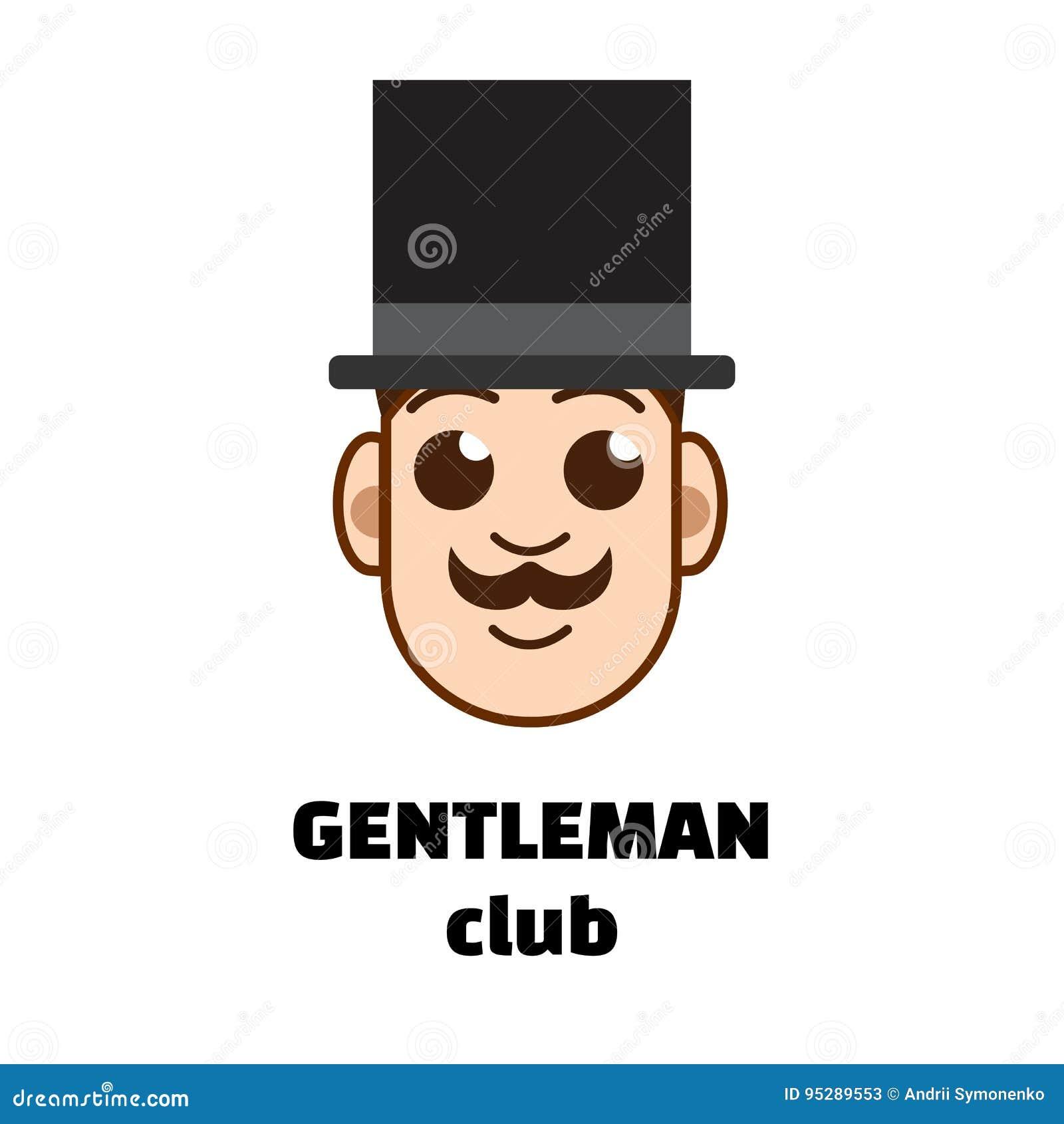 57a55b1fe68 Gentleman Club Logo. Vector Illustration Stock Vector - Illustration ...