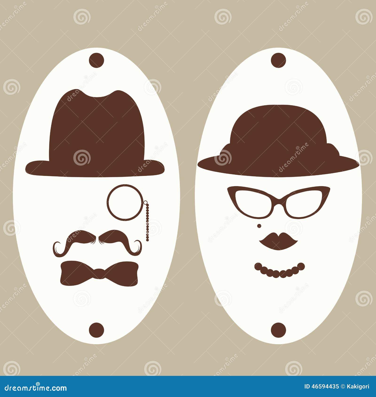 Gentleman And Ladies Toilet Symbols Stock Vector Image 46594435