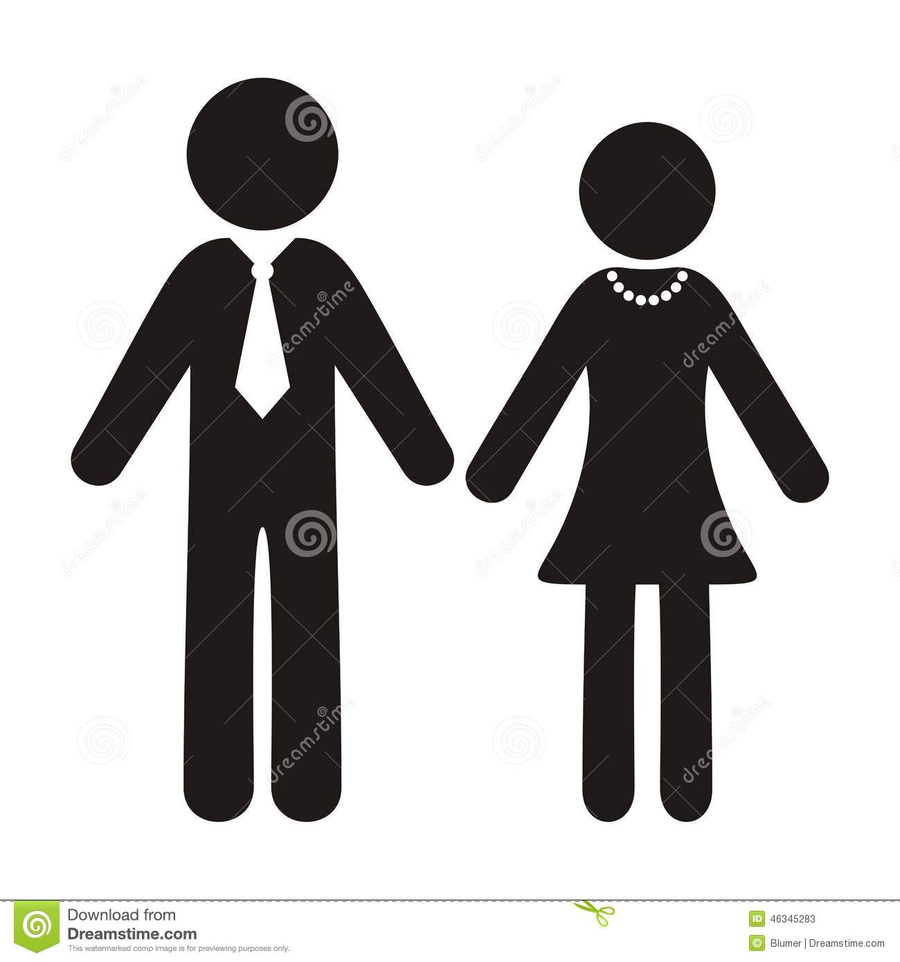 Bathroom male sign - Gentleman And Lady Icons Stock Vector Image 46345283