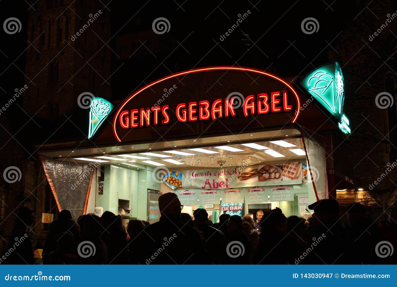 Gents Gebak Abel, Ghent Belgium, Light festival