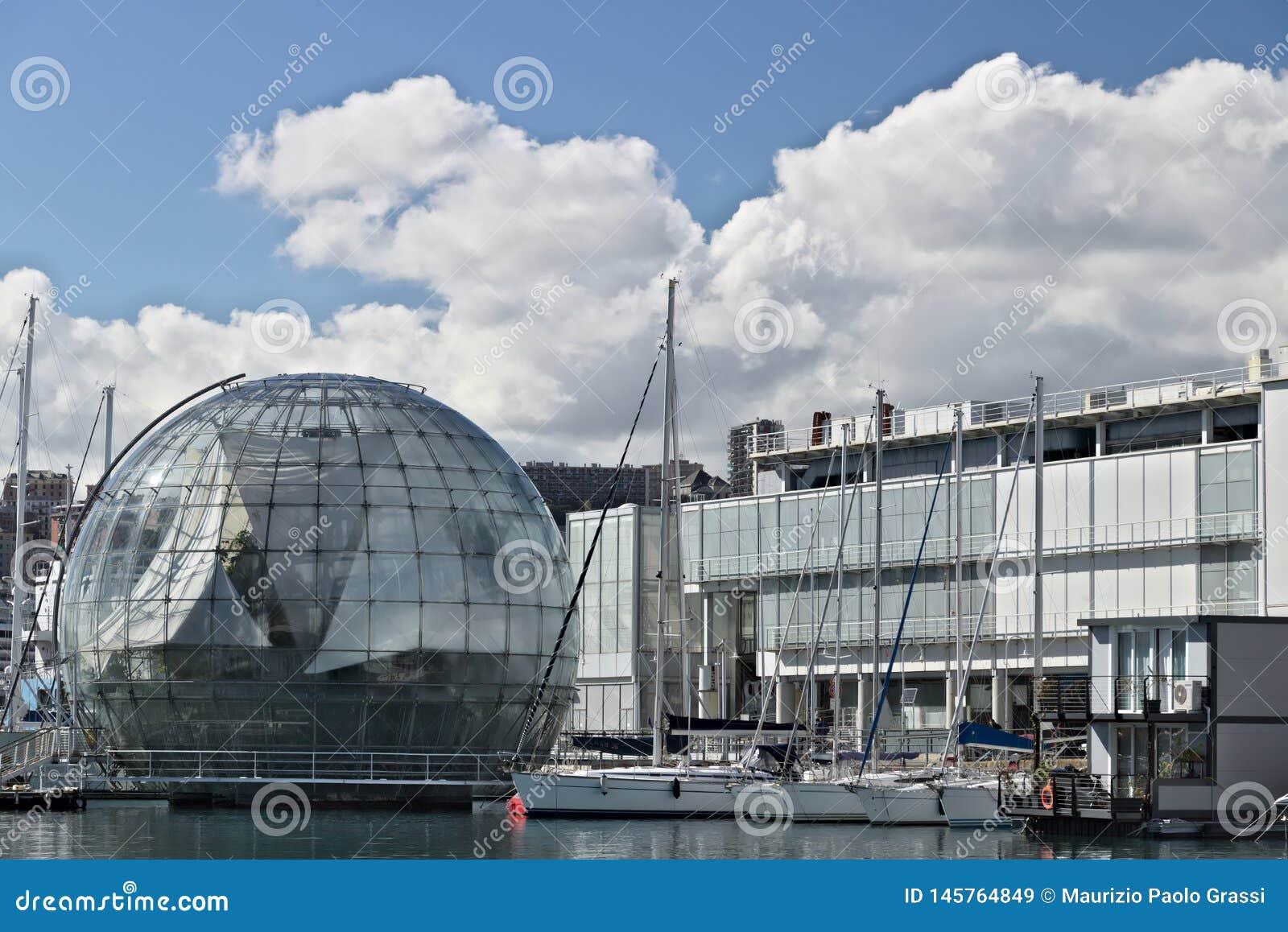 Genua Alter Hafen und Aquarium