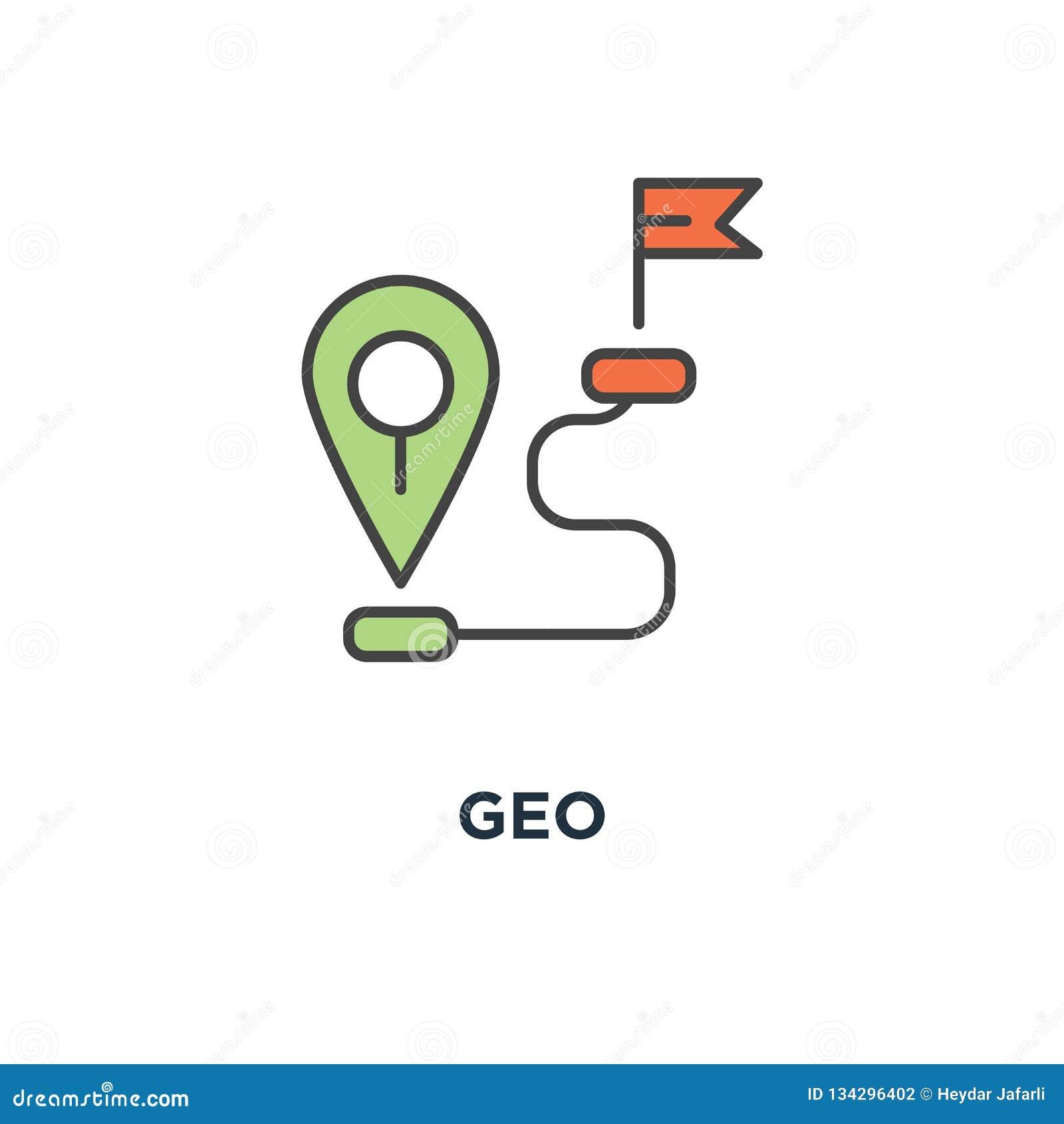 Geo Icon  Gps Location Tag Or Pointer Concept Symbol Design