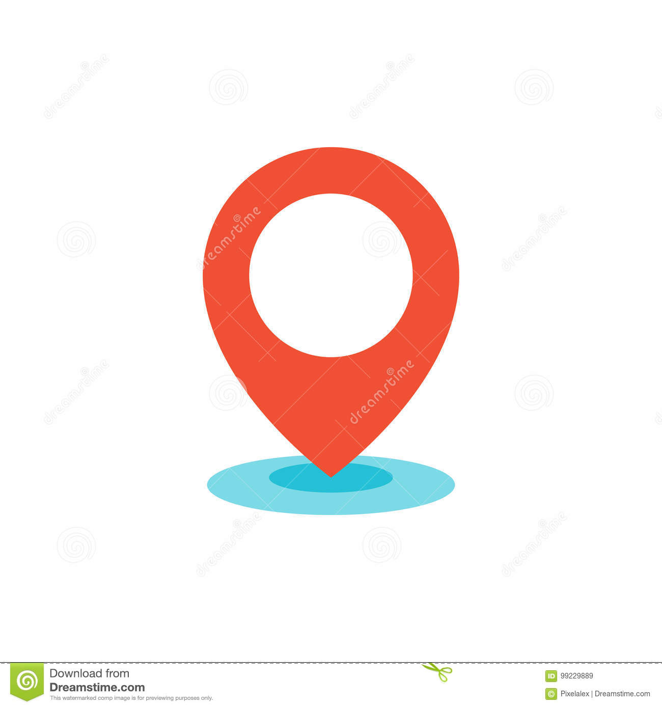 Geo location pin icon flat
