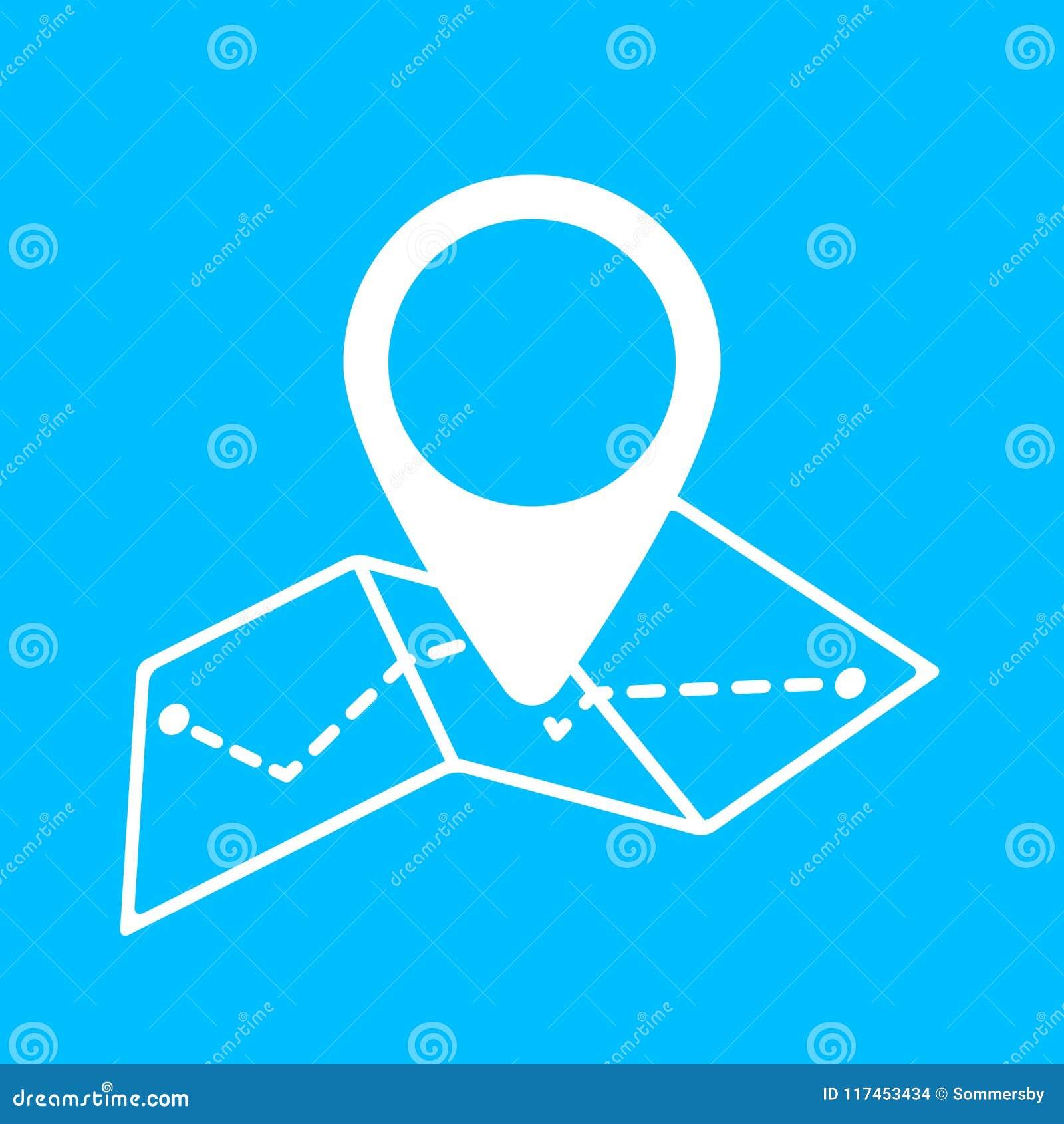 Geo-markering op kaart vectorpictogram De stijl van de het pictogramlijn van de kaartspeld nearsighted