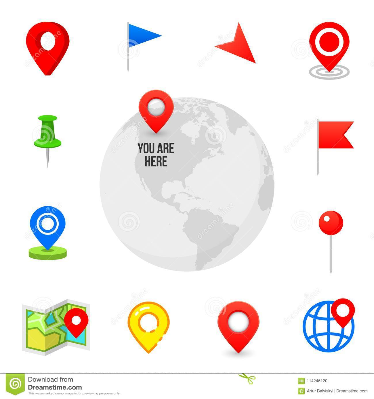 Geo Pin As Logo  Geolocation And Navigation  Icon For Map