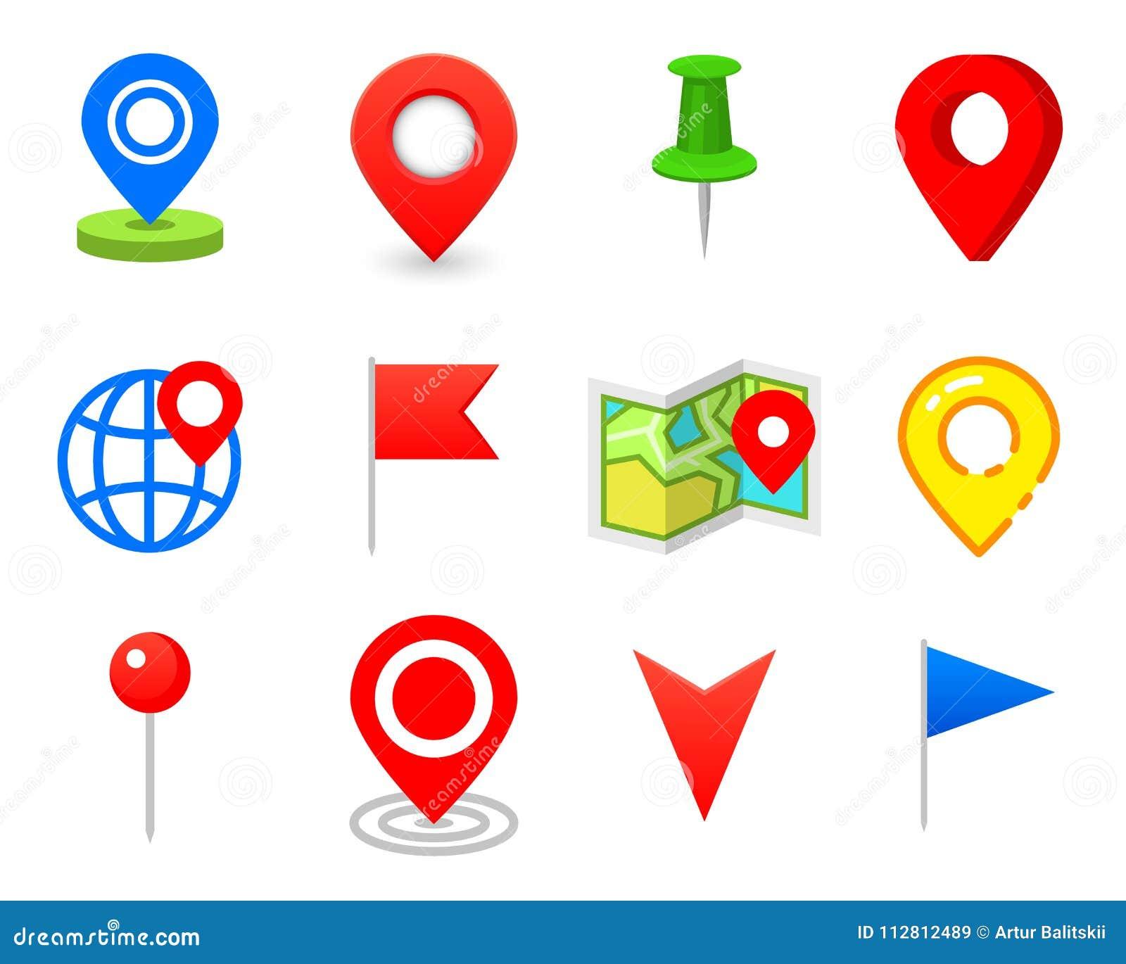 Geo stift som logo Geolocation och navigering Symbol för översikt, mobil eller apparater gps för rengöringsdukdesign, knapp för i