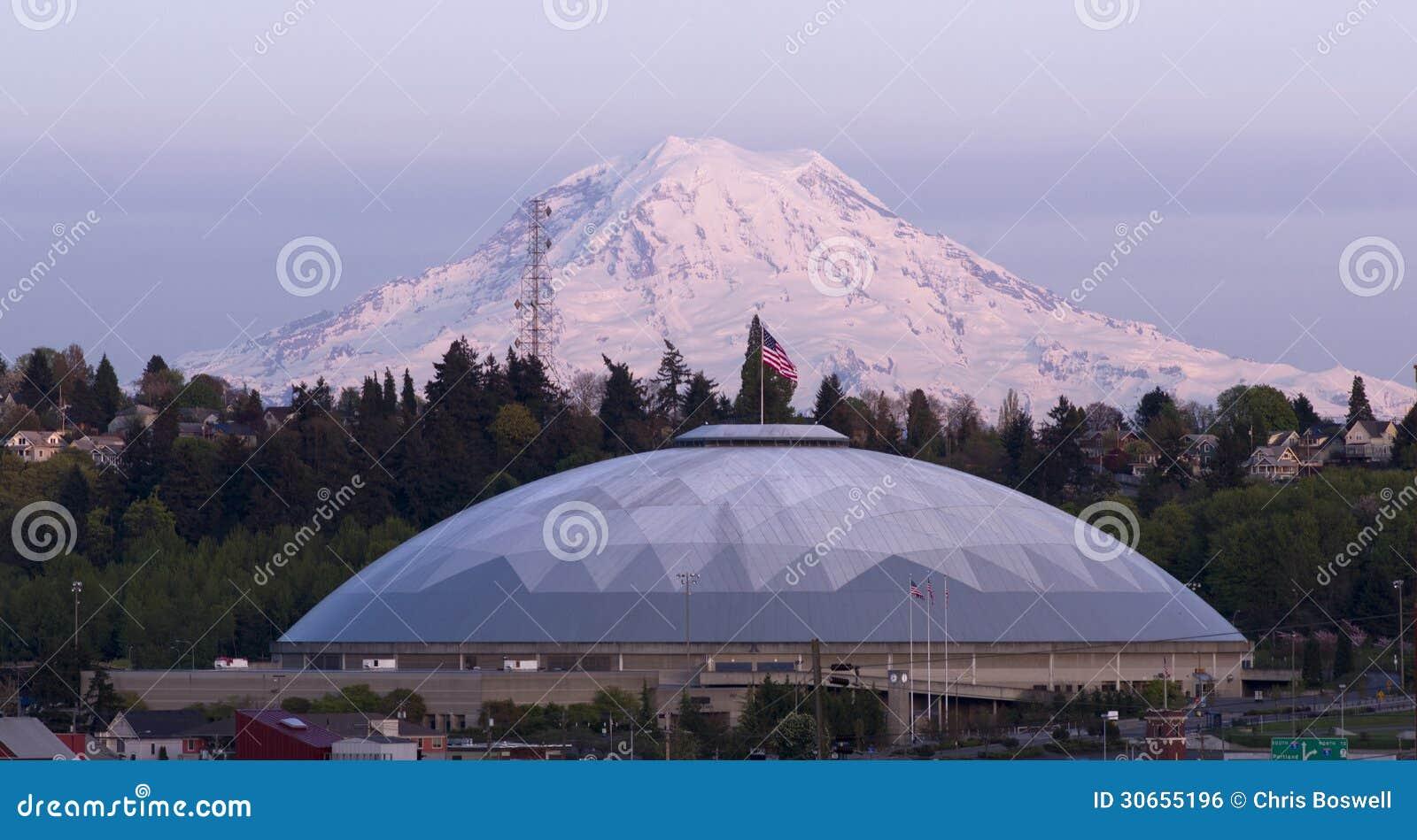 Geodesic Dome Mt Rainier City View Tacoma Washington ...